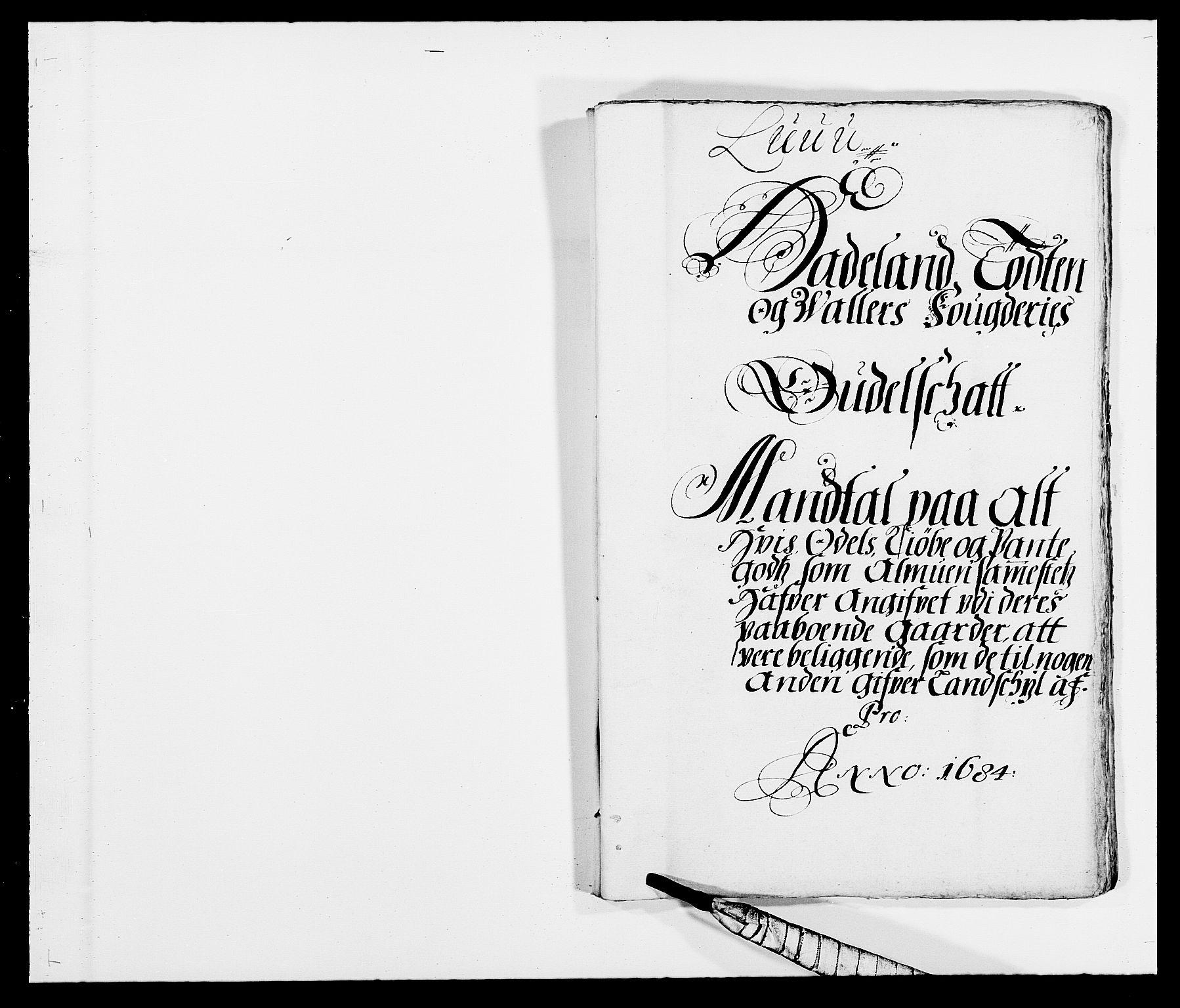 RA, Rentekammeret inntil 1814, Reviderte regnskaper, Fogderegnskap, R18/L1283: Fogderegnskap Hadeland, Toten og Valdres, 1684, s. 201