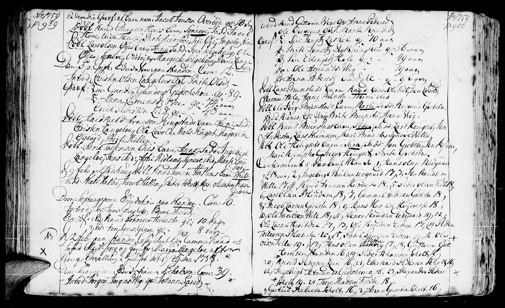 SAT, Ministerialprotokoller, klokkerbøker og fødselsregistre - Møre og Romsdal, 522/L0307: Ministerialbok nr. 522A02, 1743-1773, s. 959-960
