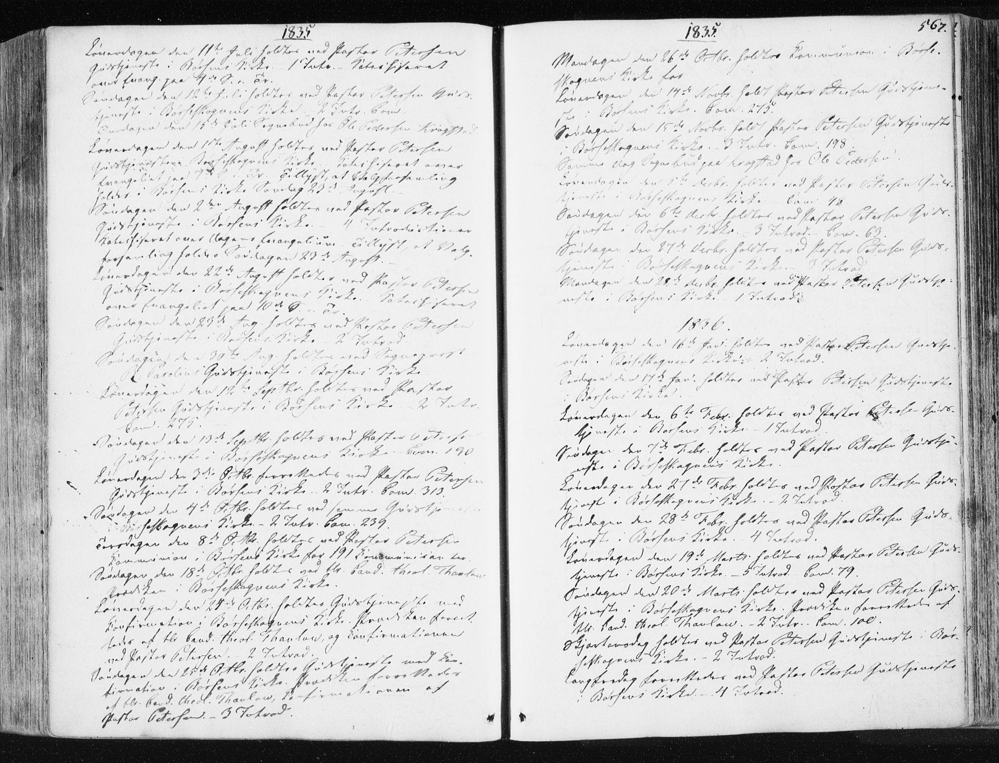 SAT, Ministerialprotokoller, klokkerbøker og fødselsregistre - Sør-Trøndelag, 665/L0771: Ministerialbok nr. 665A06, 1830-1856, s. 567