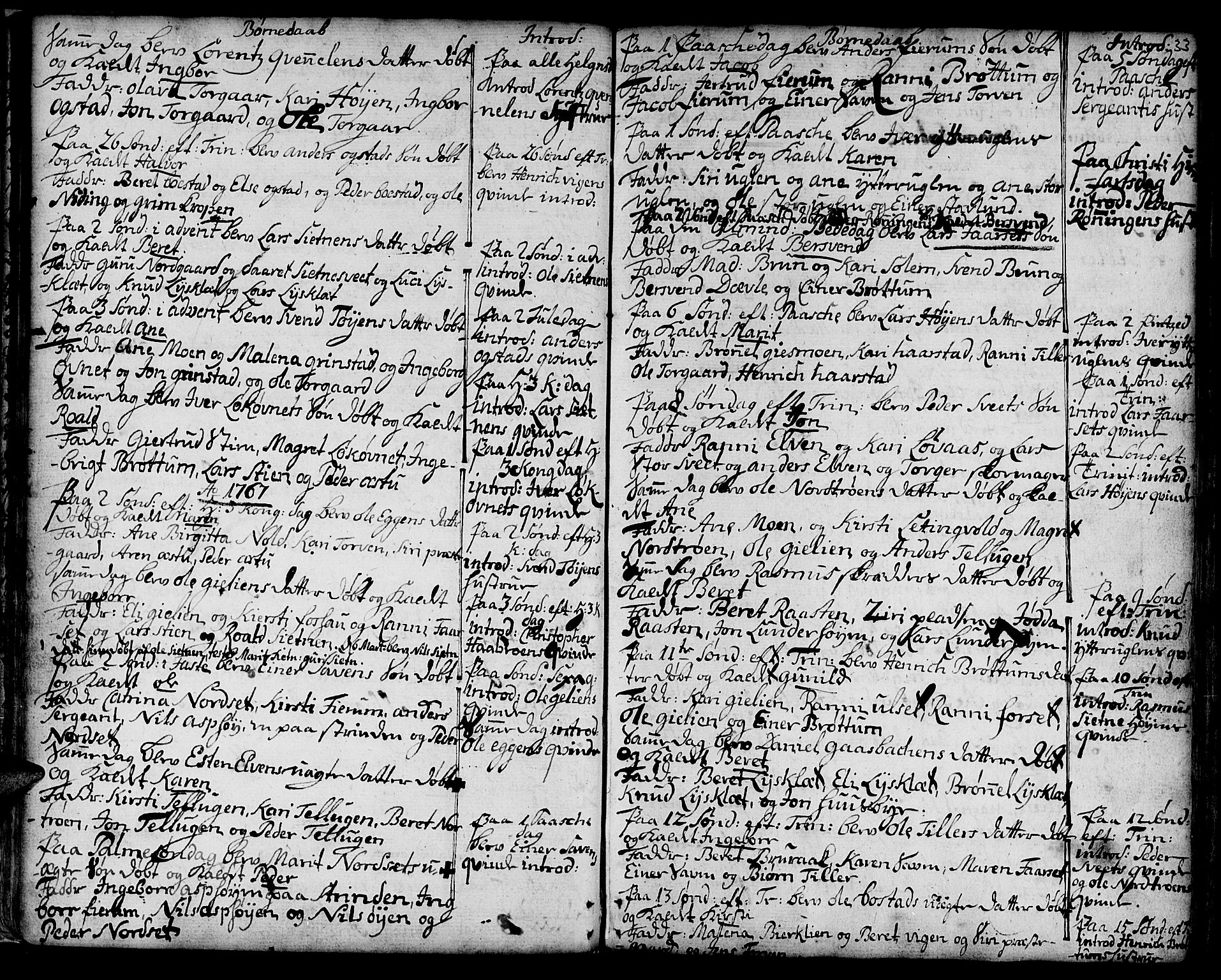 SAT, Ministerialprotokoller, klokkerbøker og fødselsregistre - Sør-Trøndelag, 618/L0437: Ministerialbok nr. 618A02, 1749-1782, s. 33