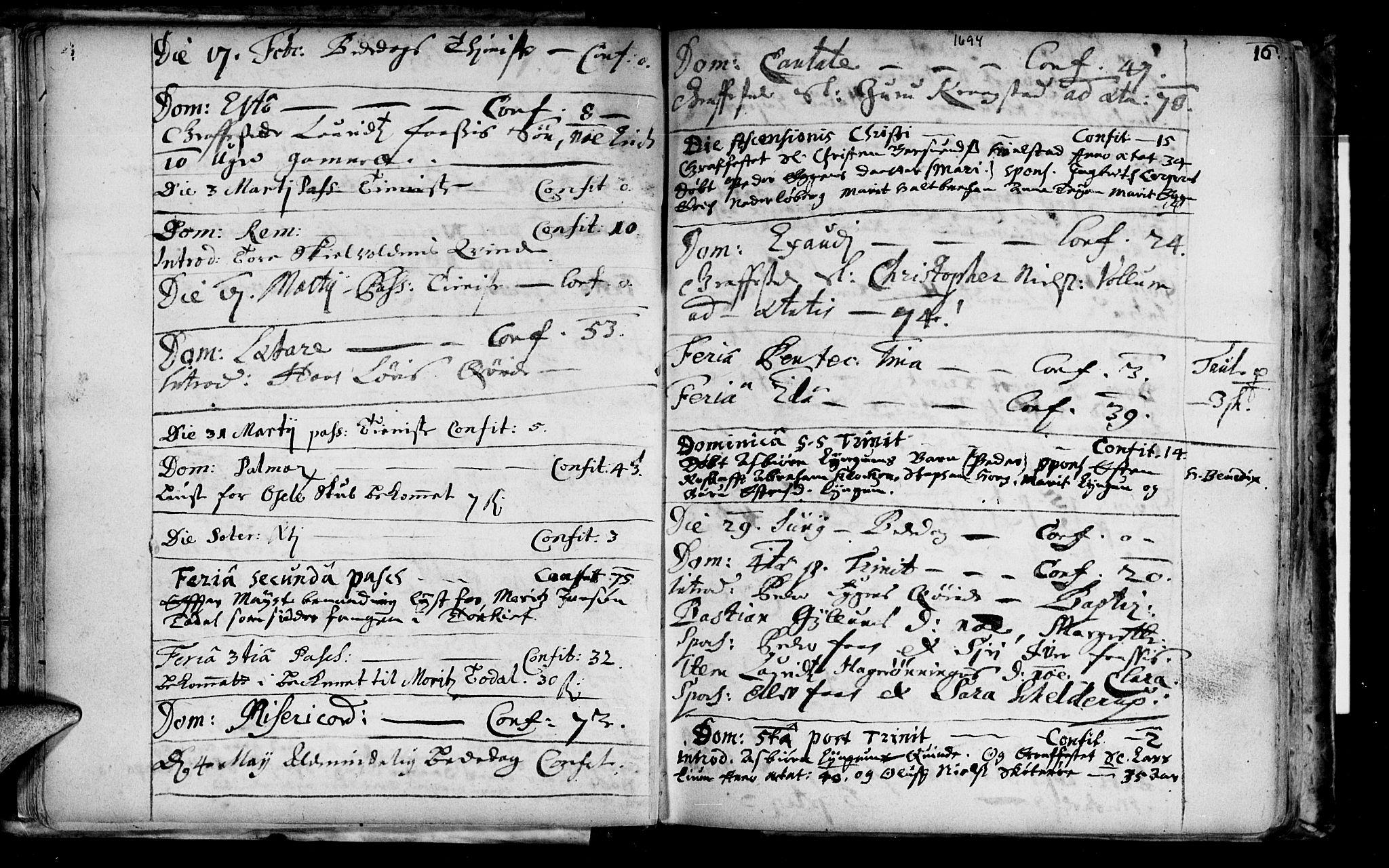SAT, Ministerialprotokoller, klokkerbøker og fødselsregistre - Sør-Trøndelag, 692/L1101: Ministerialbok nr. 692A01, 1690-1746, s. 16