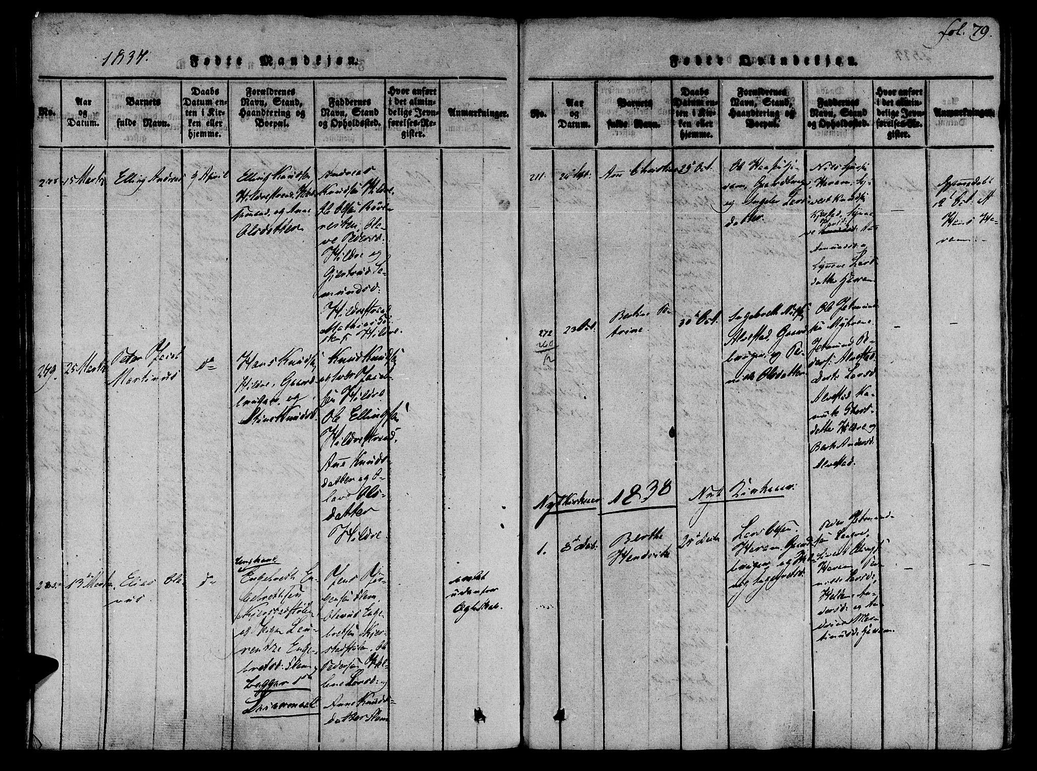 SAT, Ministerialprotokoller, klokkerbøker og fødselsregistre - Møre og Romsdal, 536/L0495: Ministerialbok nr. 536A04, 1818-1847, s. 79