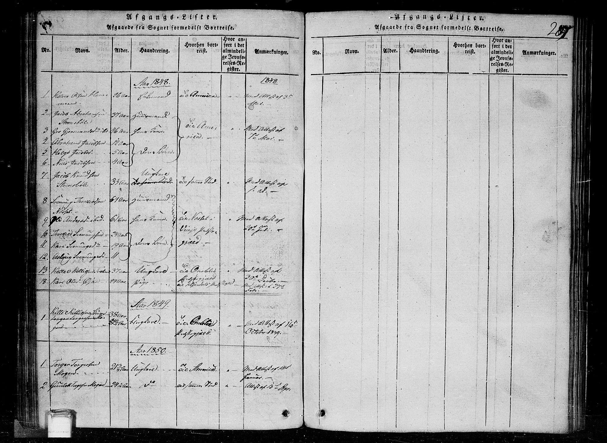 SAKO, Tinn kirkebøker, G/Gc/L0001: Klokkerbok nr. III 1, 1815-1879, s. 287
