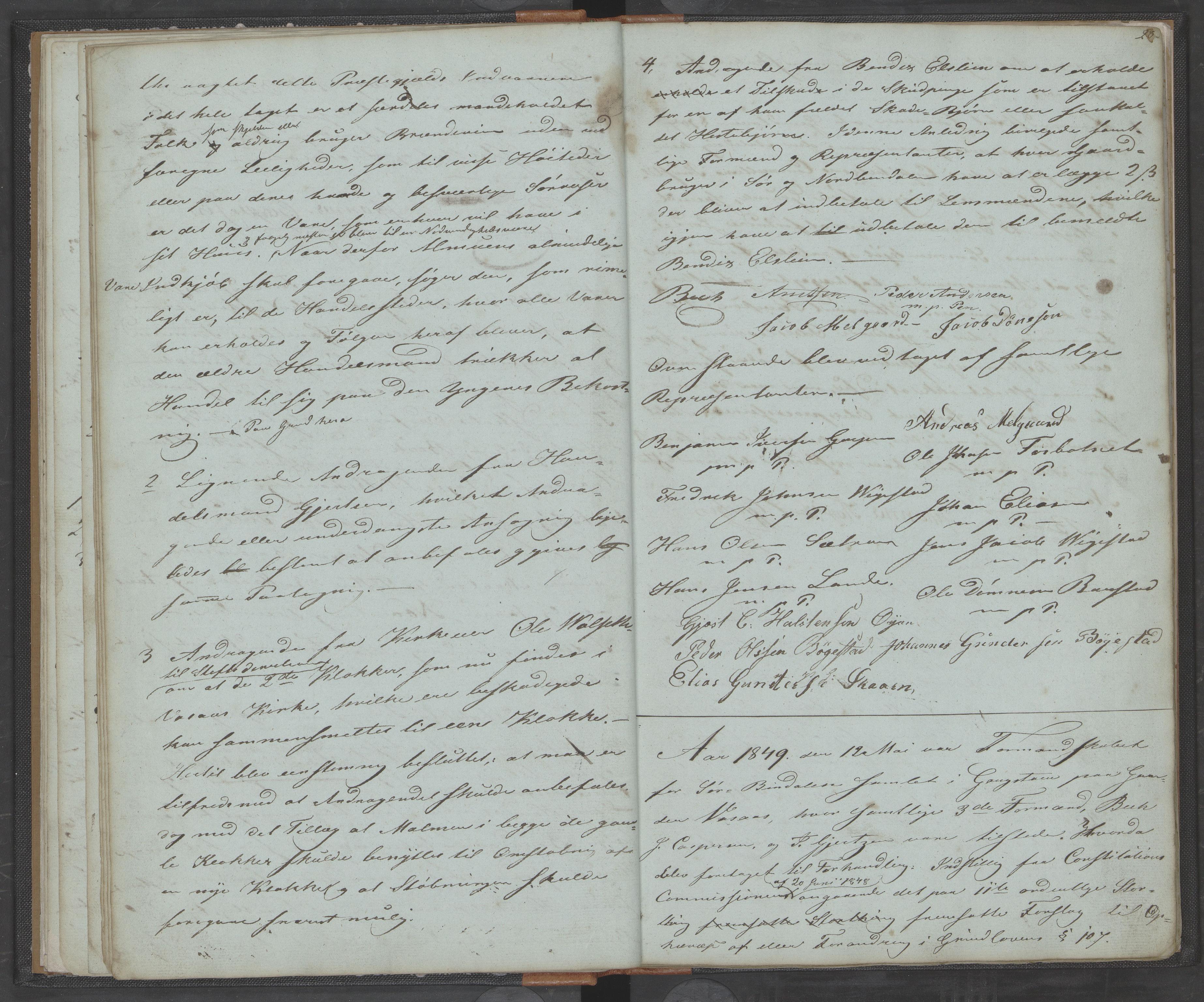 AIN, Bindal kommune. Formannskapet, A/Aa/L0000a: Møtebok, 1843-1881, s. 28