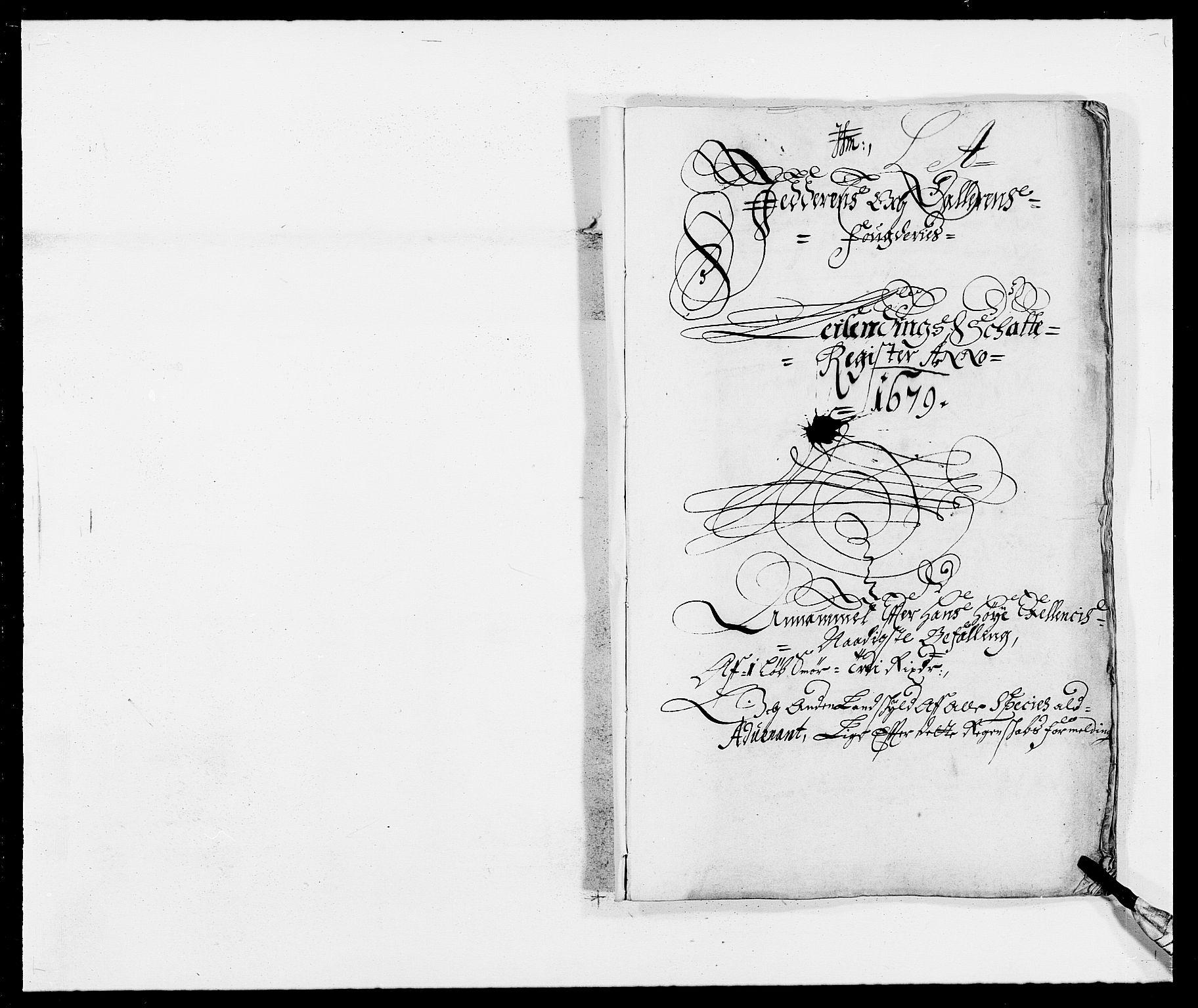 RA, Rentekammeret inntil 1814, Reviderte regnskaper, Fogderegnskap, R46/L2719: Fogderegnskap Jæren og Dalane, 1679, s. 1