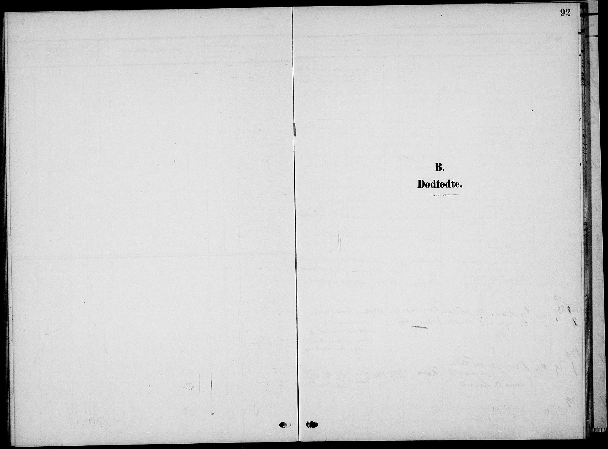 SAKO, Sauherad kirkebøker, G/Ga/L0004a: Klokkerbok nr. I 4, 1906-1934, s. 92