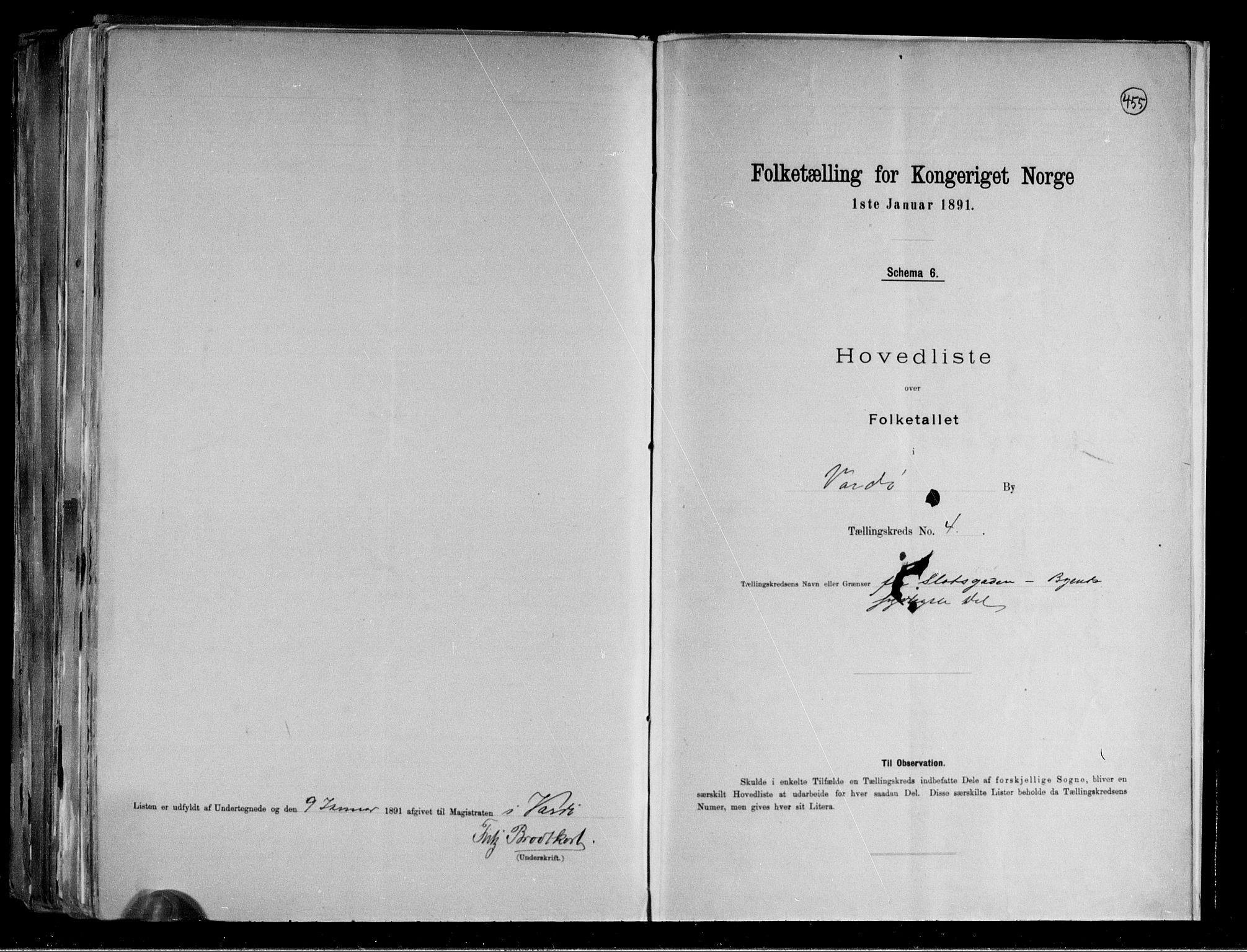 RA, Folketelling 1891 for 2002 Vardø kjøpstad, 1891, s. 11
