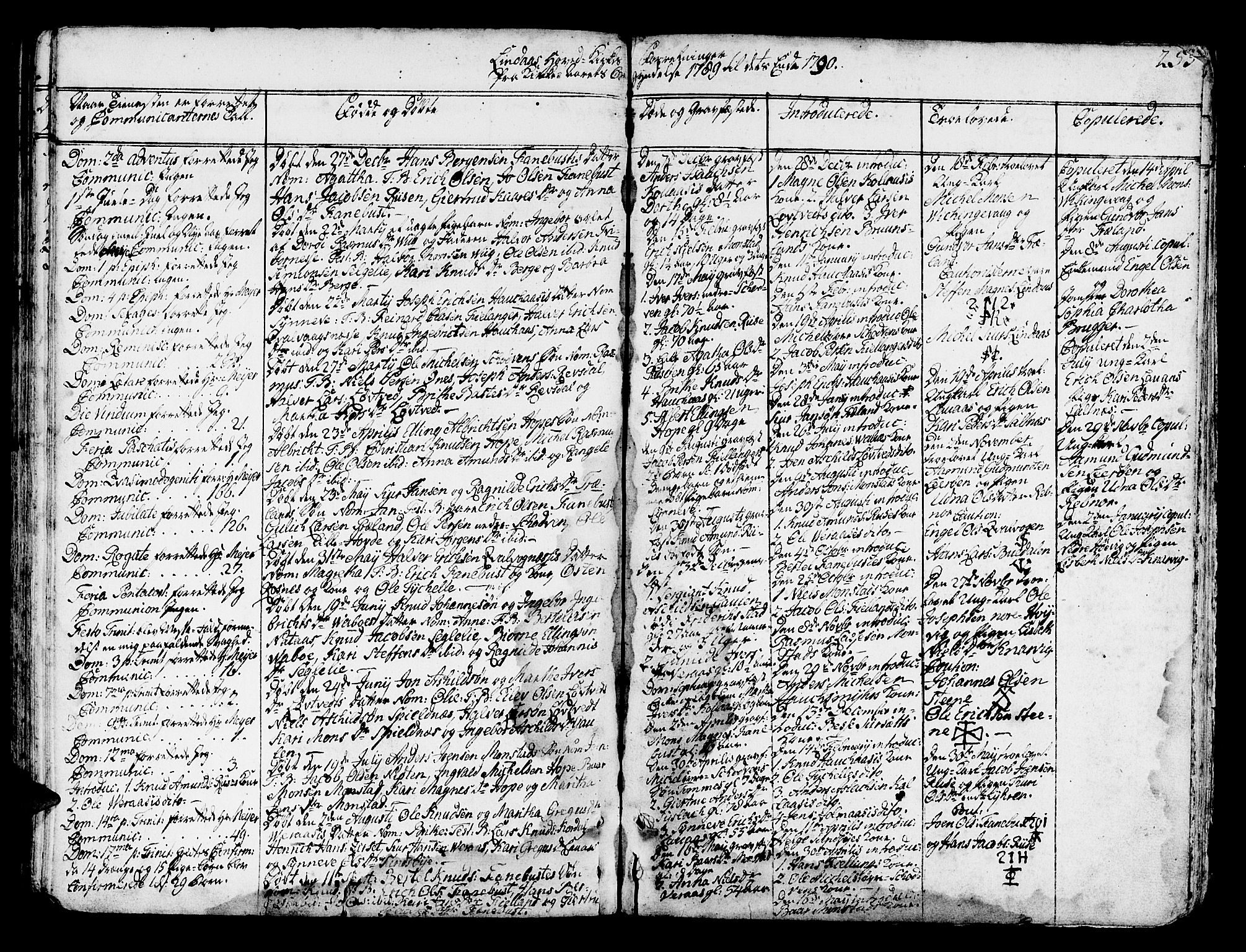SAB, Lindås Sokneprestembete, H/Haa: Ministerialbok nr. A 4, 1764-1791, s. 255