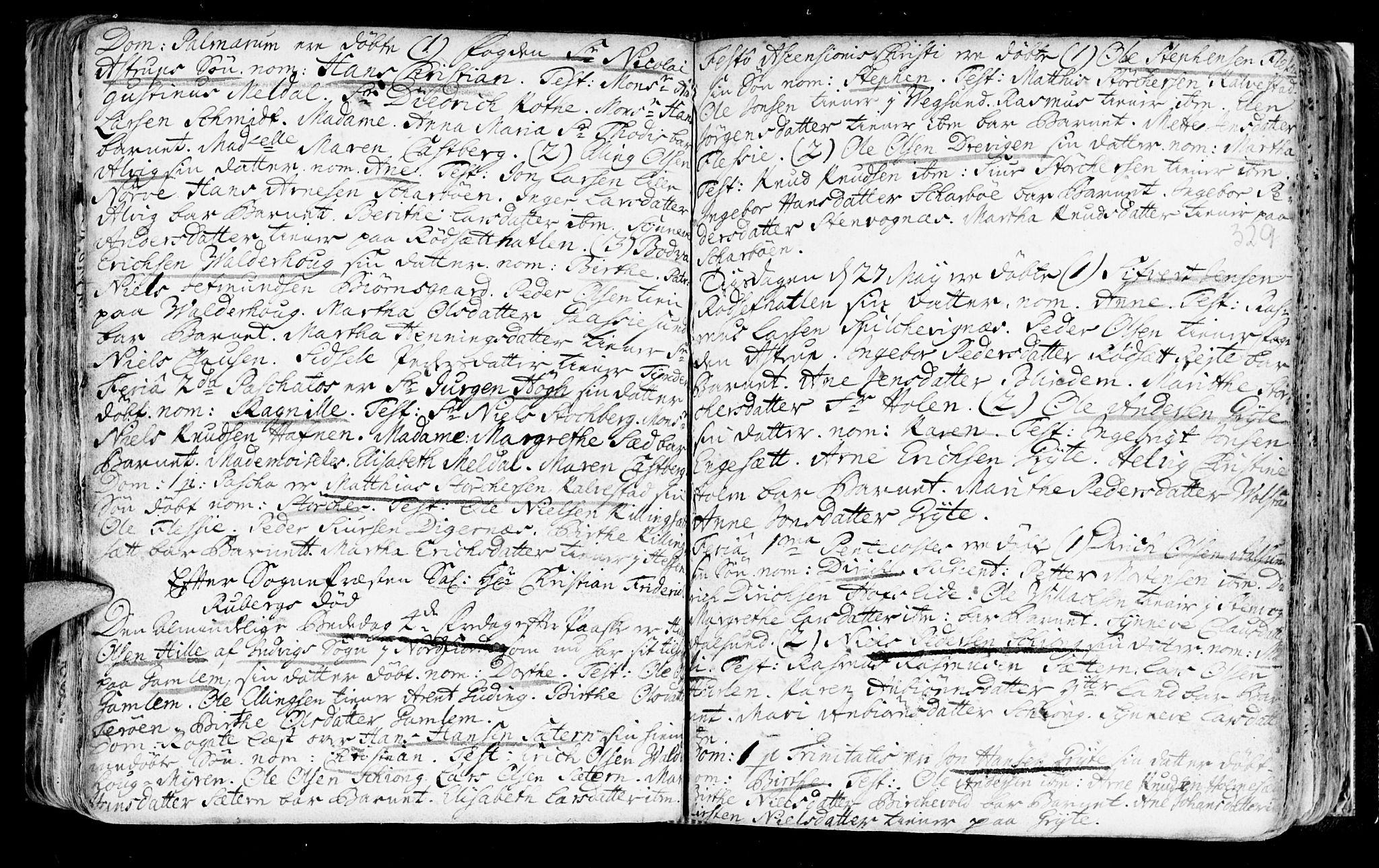 SAT, Ministerialprotokoller, klokkerbøker og fødselsregistre - Møre og Romsdal, 528/L0390: Ministerialbok nr. 528A01, 1698-1739, s. 328-329