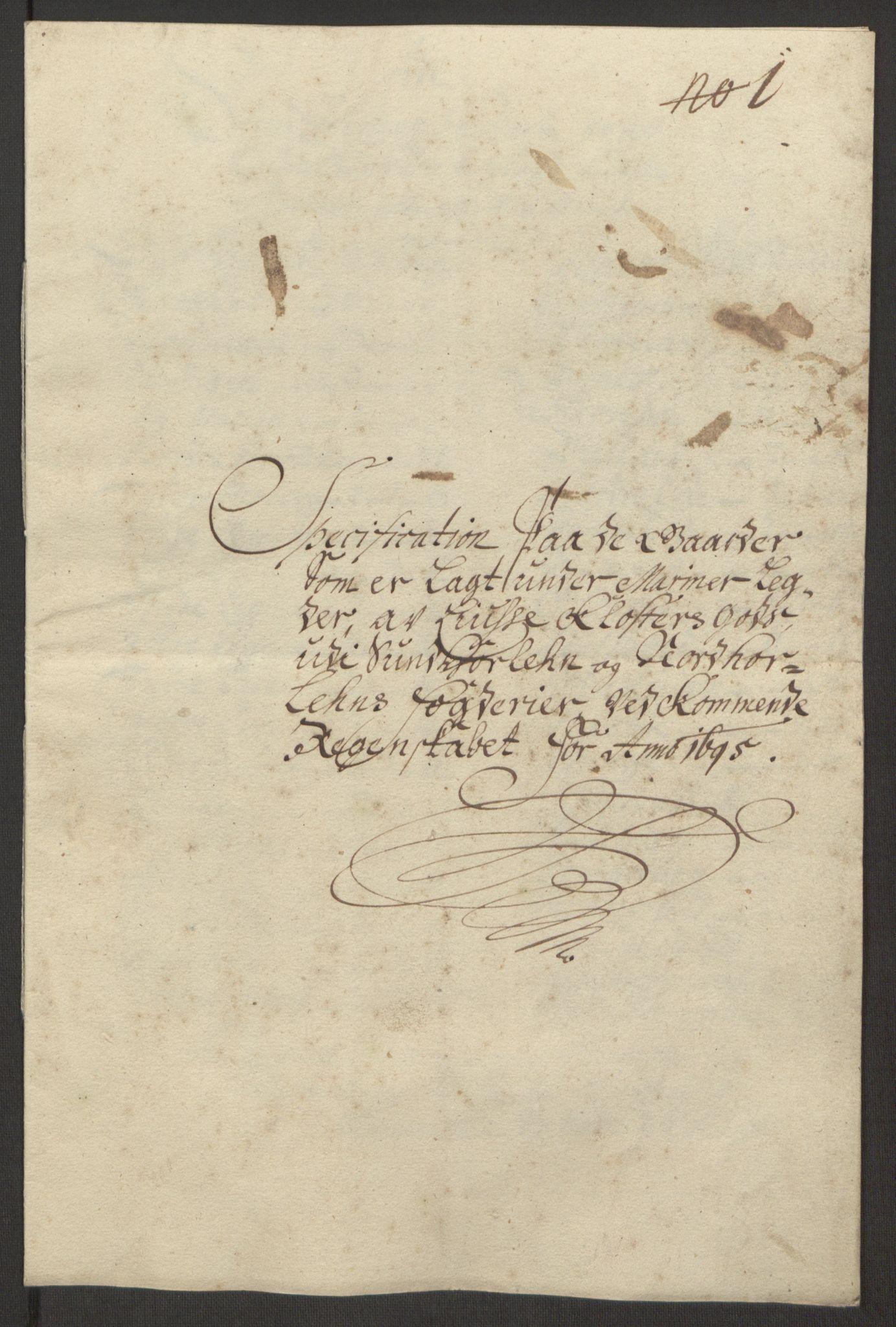 RA, Rentekammeret inntil 1814, Reviderte regnskaper, Fogderegnskap, R50/L3159: Fogderegnskap Lyse kloster, 1691-1709, s. 42