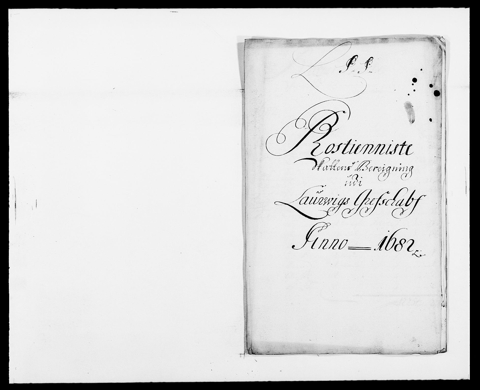 RA, Rentekammeret inntil 1814, Reviderte regnskaper, Fogderegnskap, R33/L1969: Fogderegnskap Larvik grevskap, 1675-1687, s. 190