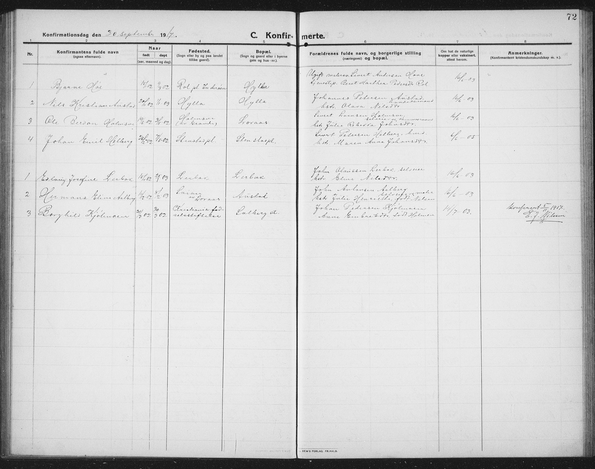 SAT, Ministerialprotokoller, klokkerbøker og fødselsregistre - Nord-Trøndelag, 731/L0312: Klokkerbok nr. 731C03, 1911-1935, s. 72