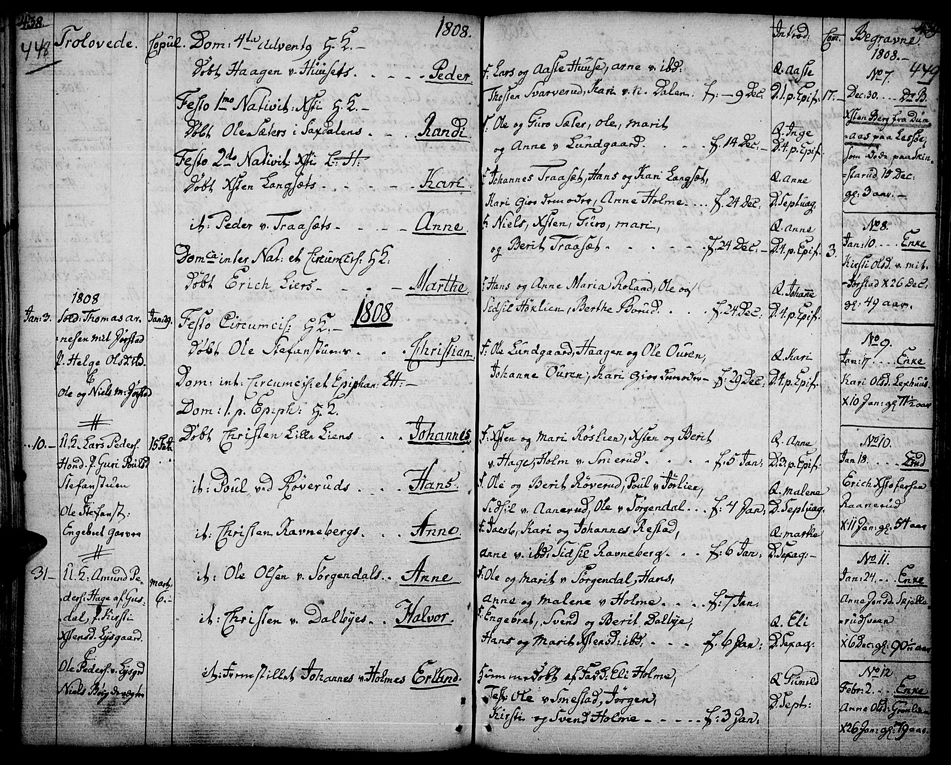 SAH, Fåberg prestekontor, Ministerialbok nr. 2, 1775-1818, s. 448-449