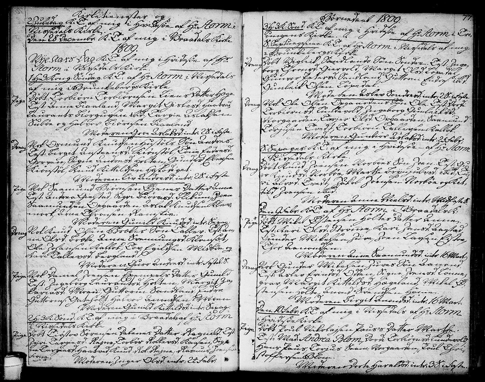 SAKO, Kviteseid kirkebøker, F/Fa/L0004: Ministerialbok nr. I 4, 1800-1814, s. 77
