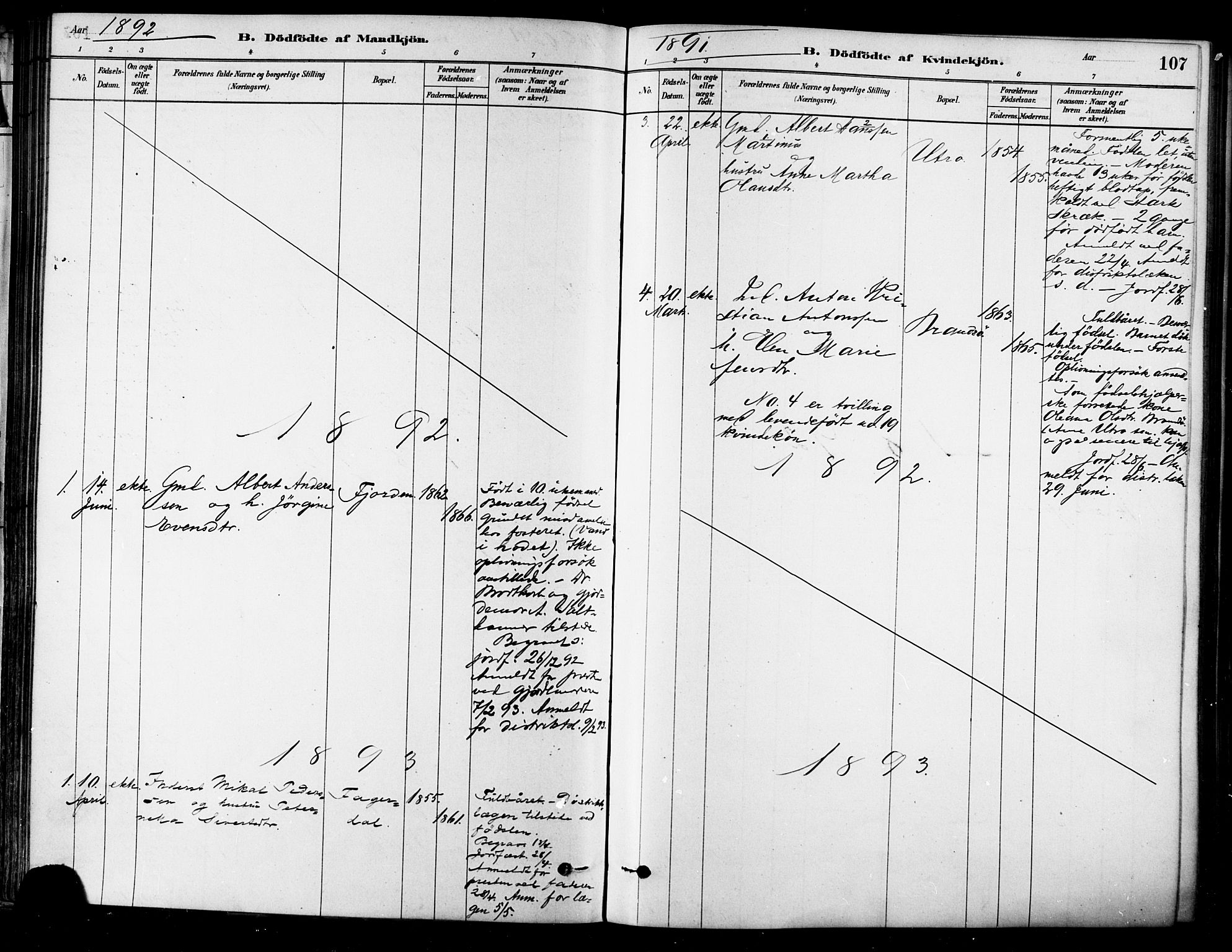 SAT, Ministerialprotokoller, klokkerbøker og fødselsregistre - Sør-Trøndelag, 657/L0707: Ministerialbok nr. 657A08, 1879-1893, s. 107