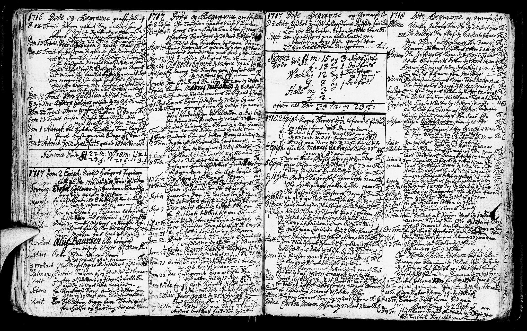 SAT, Ministerialprotokoller, klokkerbøker og fødselsregistre - Nord-Trøndelag, 723/L0230: Ministerialbok nr. 723A01, 1705-1747, s. 51