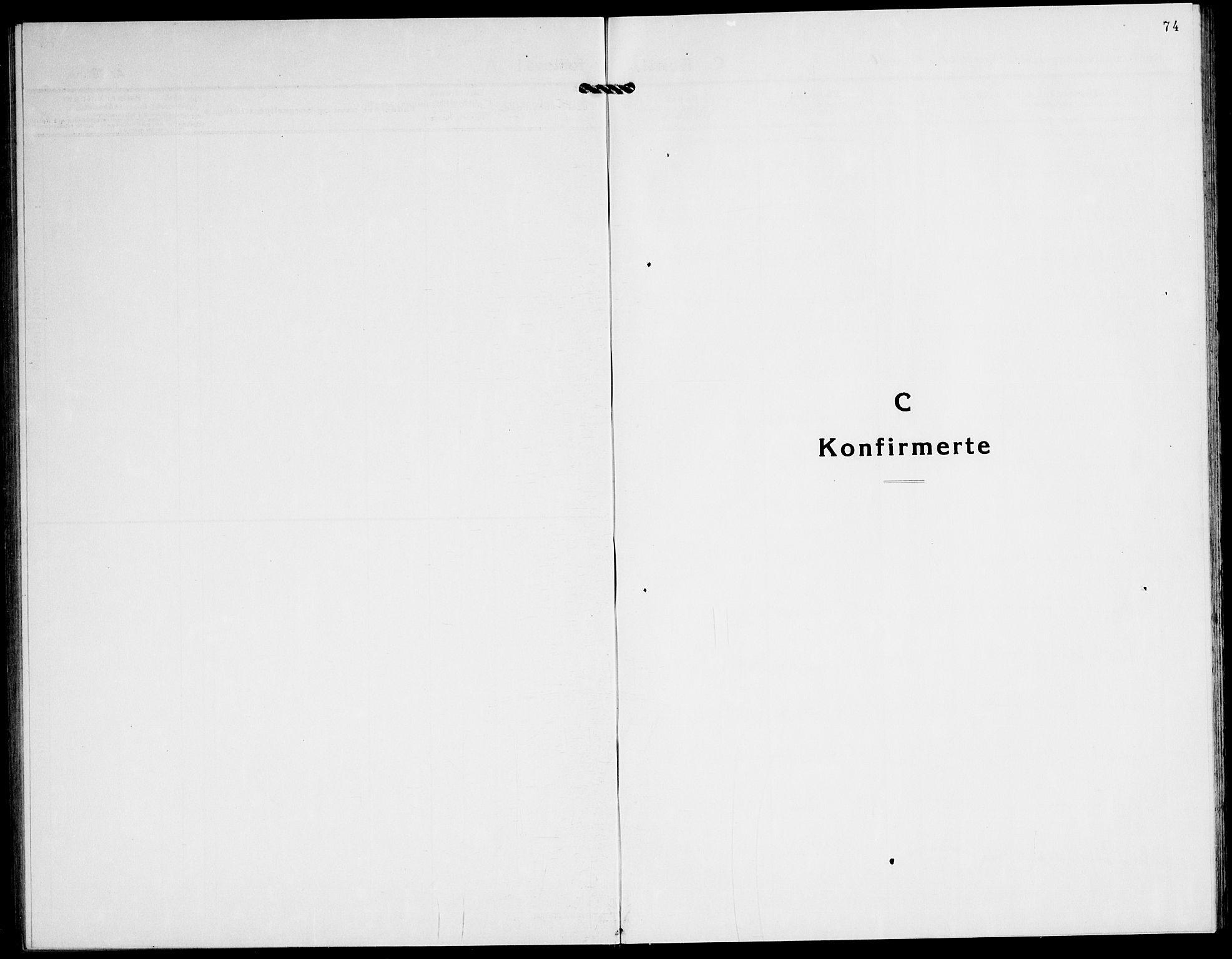SATØ, Tranøy sokneprestkontor, I/Ia/Iab/L0016klokker: Klokkerbok nr. 16, 1930-1945, s. 74