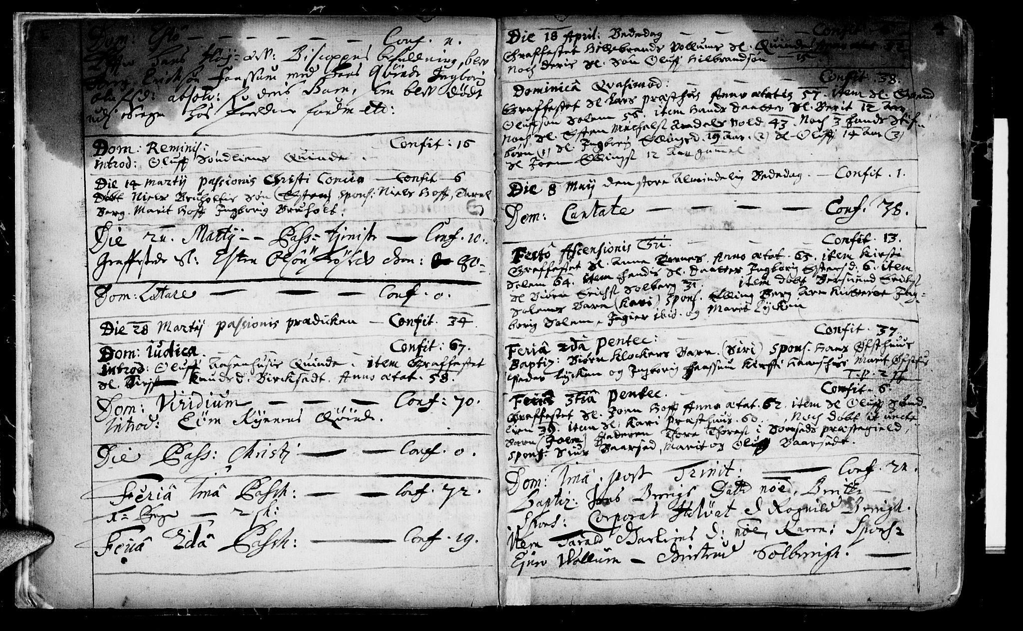 SAT, Ministerialprotokoller, klokkerbøker og fødselsregistre - Sør-Trøndelag, 689/L1036: Ministerialbok nr. 689A01, 1696-1746, s. 4
