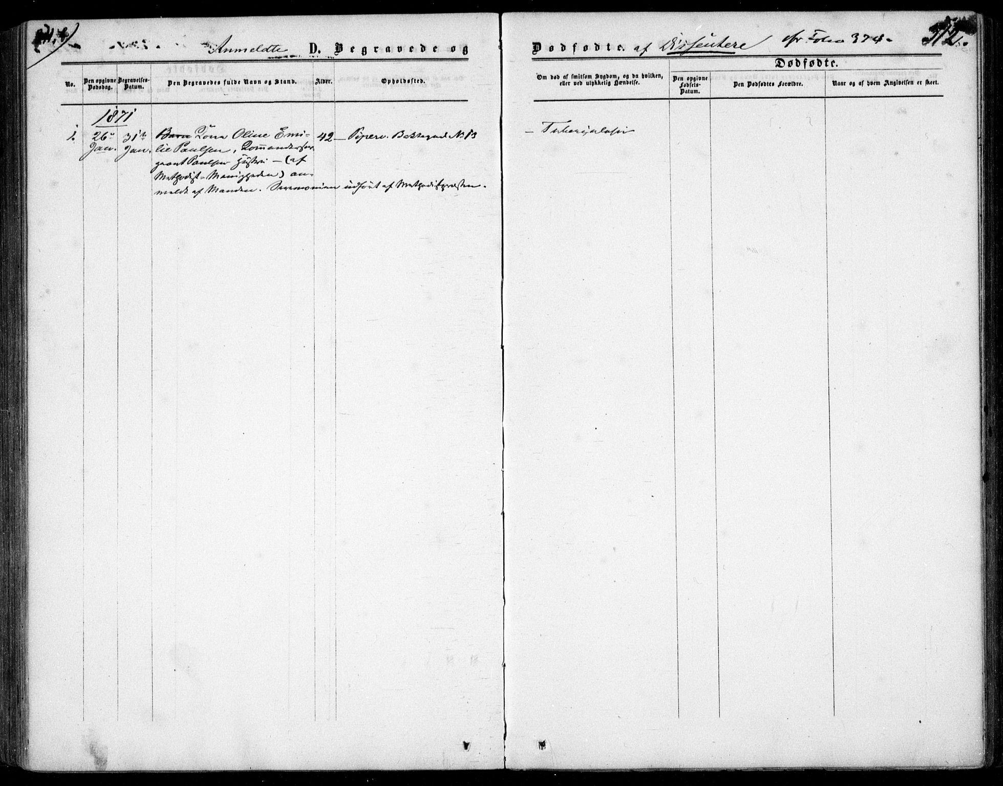 SAO, Garnisonsmenigheten Kirkebøker, F/Fa/L0011: Ministerialbok nr. 11, 1870-1880, s. 312