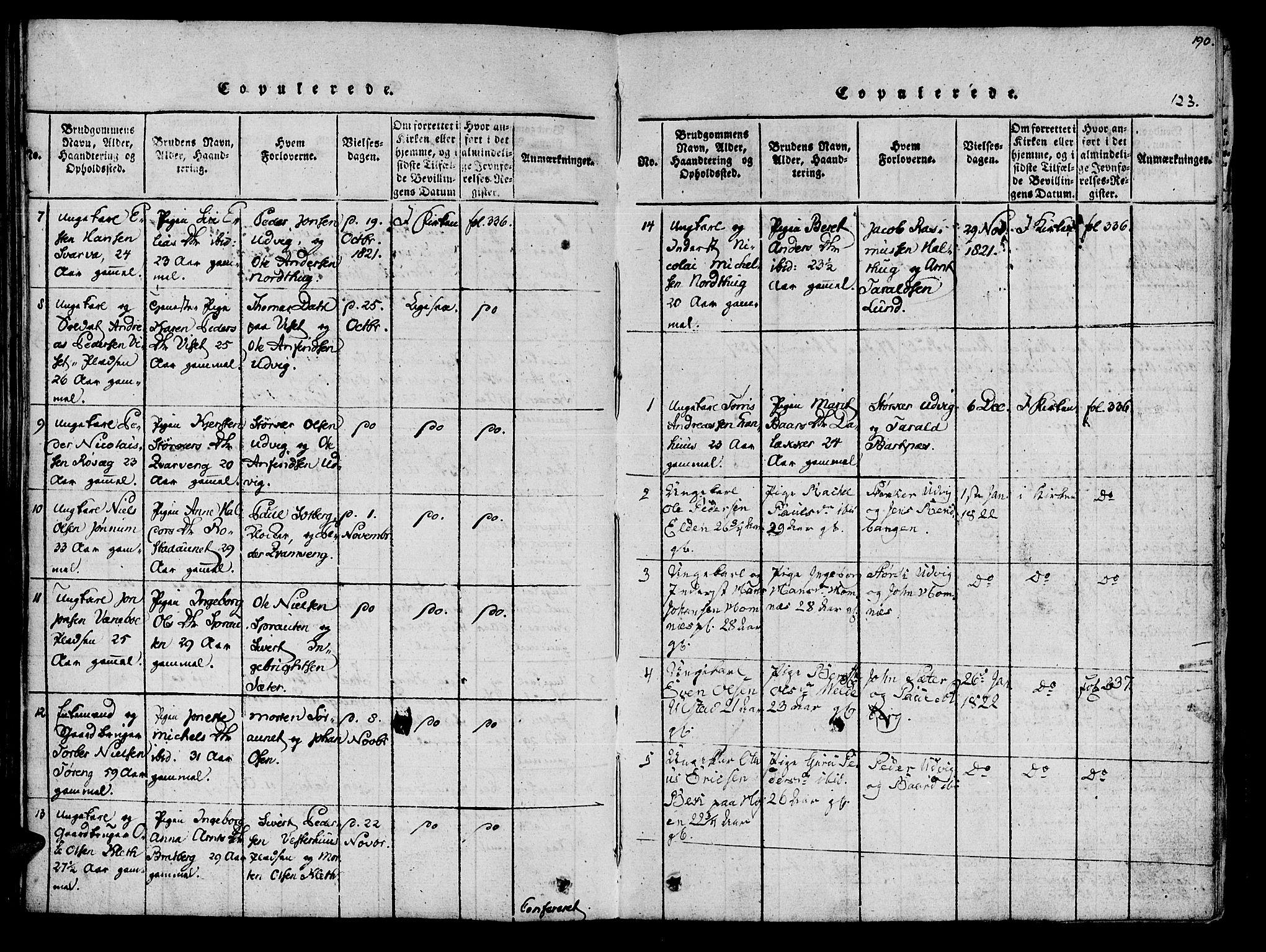 SAT, Ministerialprotokoller, klokkerbøker og fødselsregistre - Nord-Trøndelag, 741/L0387: Ministerialbok nr. 741A03 /1, 1817-1822, s. 123