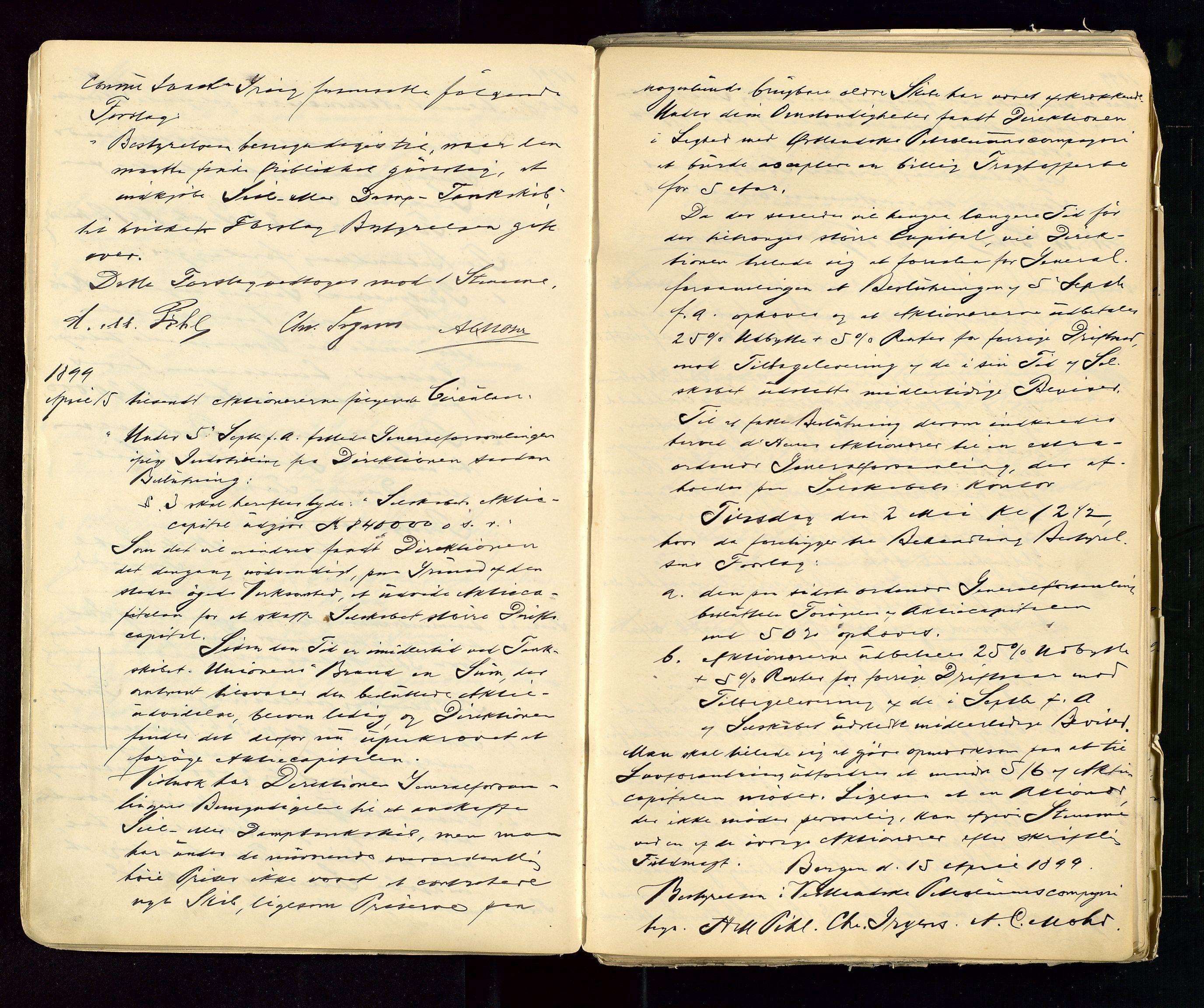 SAST, PA 1533 - A/S Vestlandske Petroleumscompani, A/Aa/L0001: Generalforsamlinger og styreprotokoller, 1890-1953, s. 22