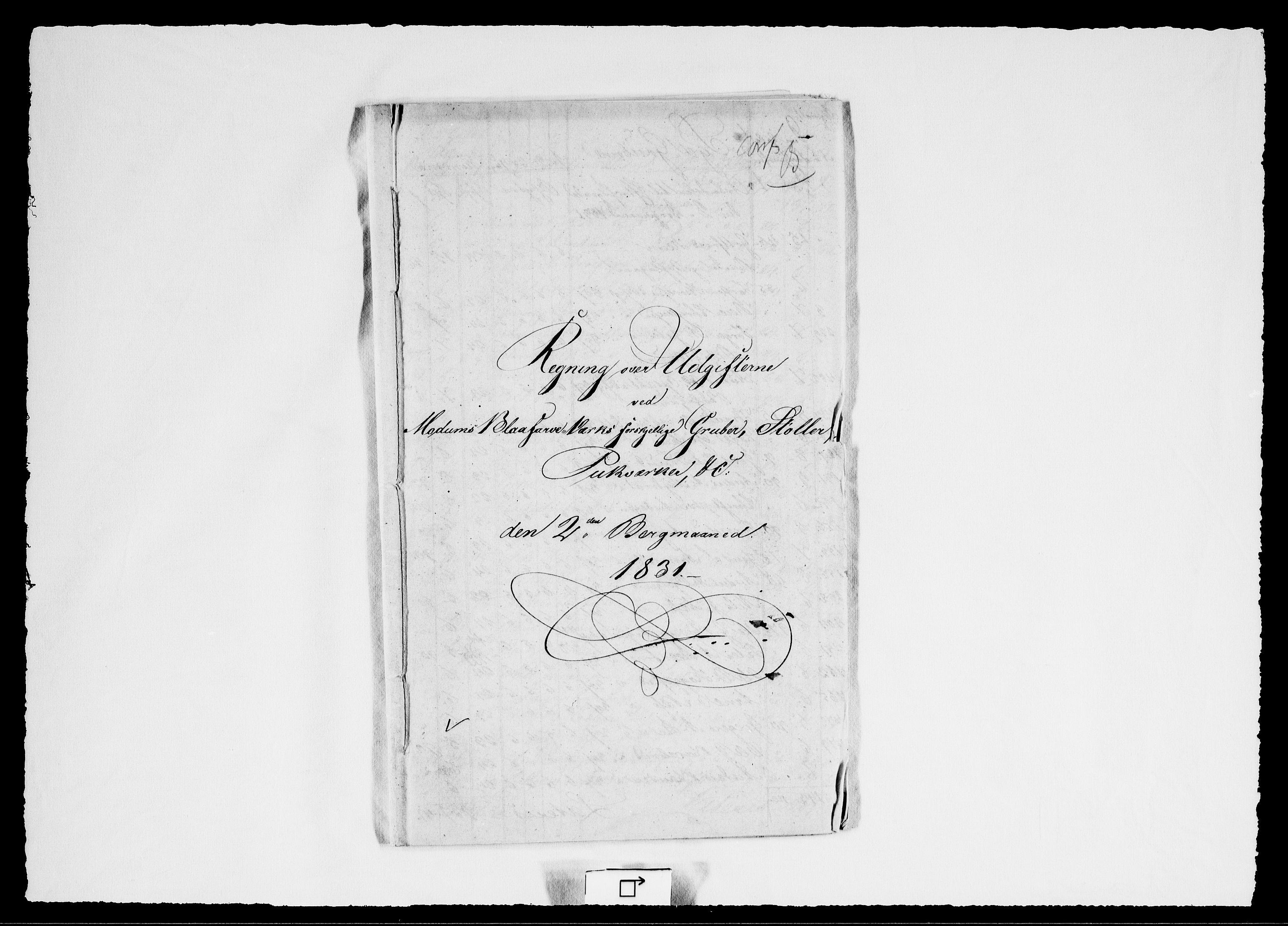 RA, Modums Blaafarveværk, G/Gd/Gdd/L0258, 1831, s. 2