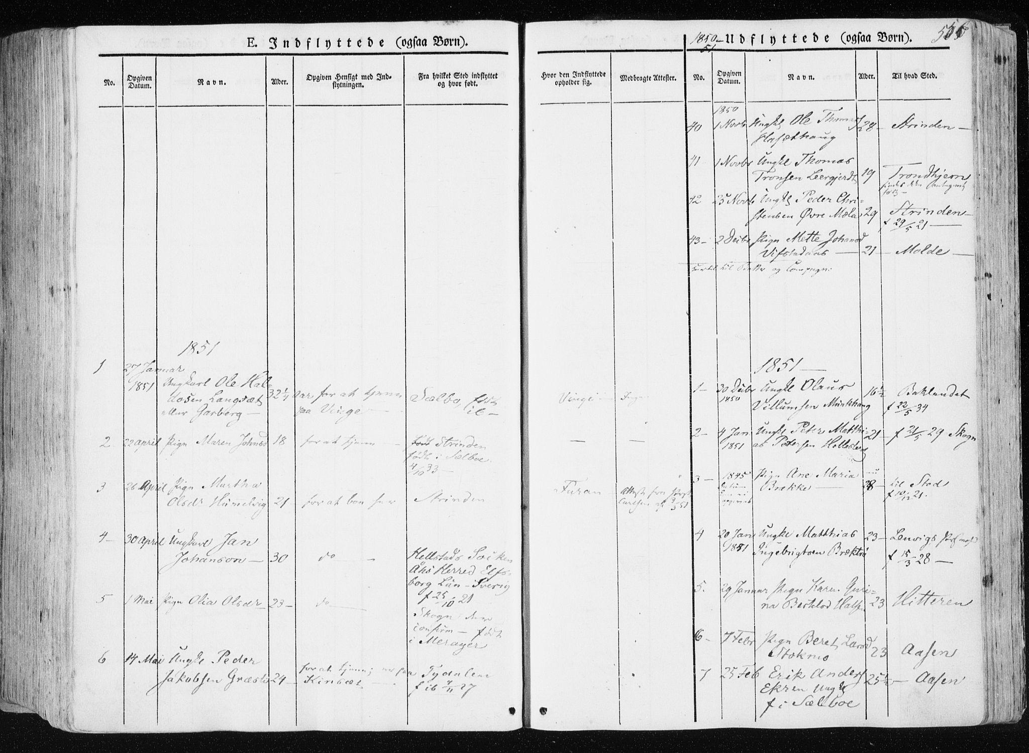 SAT, Ministerialprotokoller, klokkerbøker og fødselsregistre - Nord-Trøndelag, 709/L0074: Ministerialbok nr. 709A14, 1845-1858, s. 556