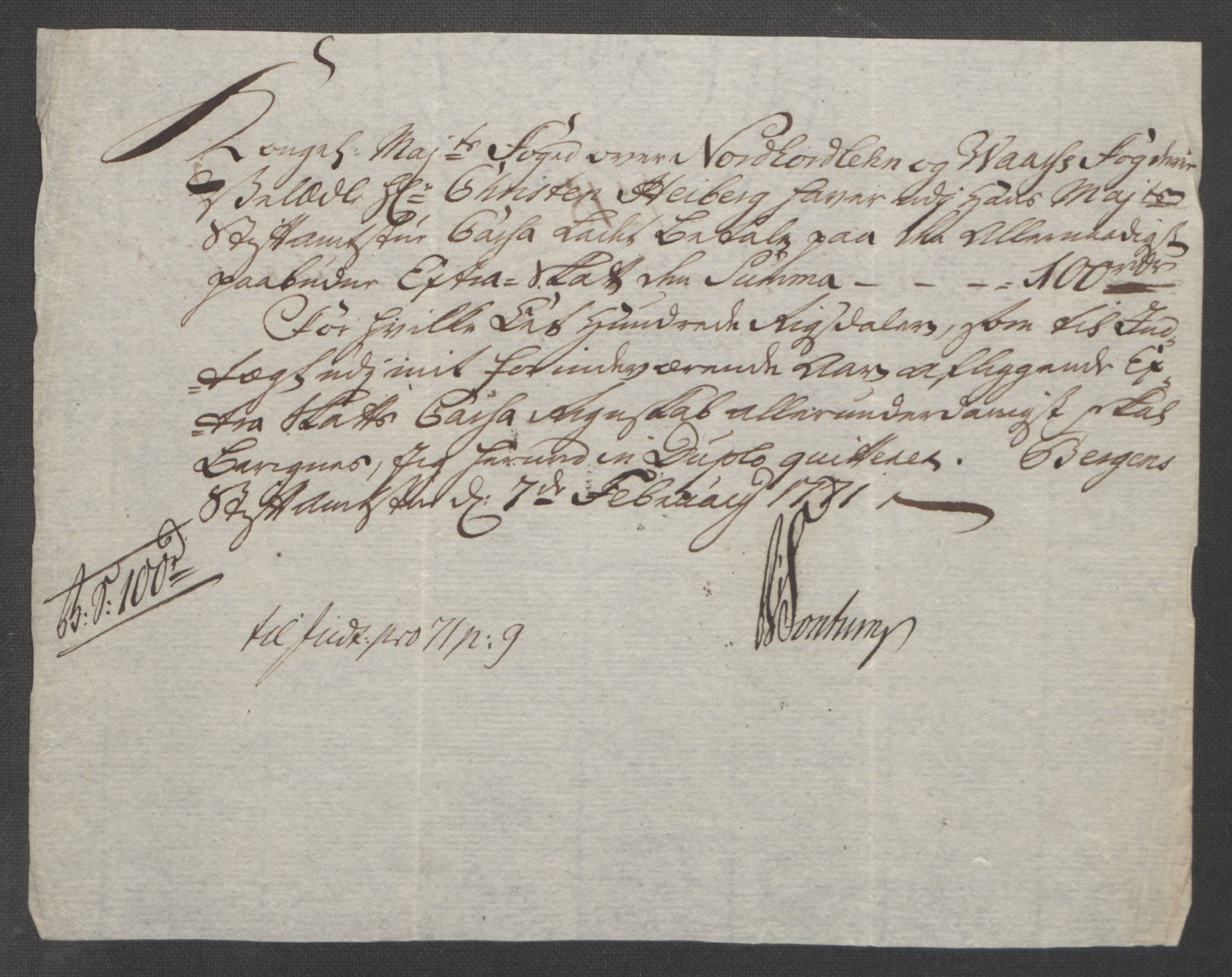 RA, Rentekammeret inntil 1814, Reviderte regnskaper, Fogderegnskap, R51/L3303: Ekstraskatten Nordhordland og Voss, 1762-1772, s. 483