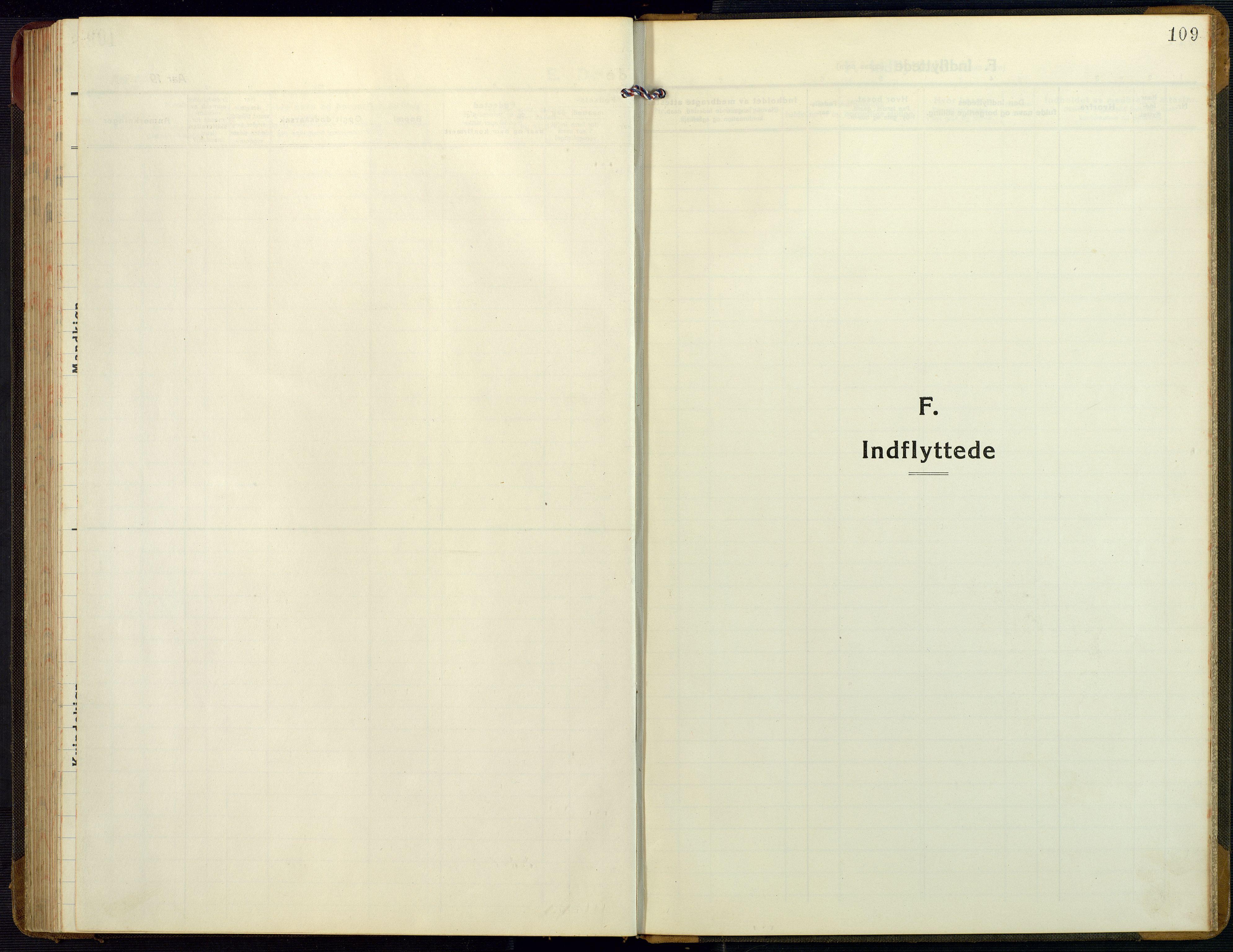 SAK, Bygland sokneprestkontor, F/Fb/Fbb/L0005: Klokkerbok nr. B 5, 1920-1955, s. 109