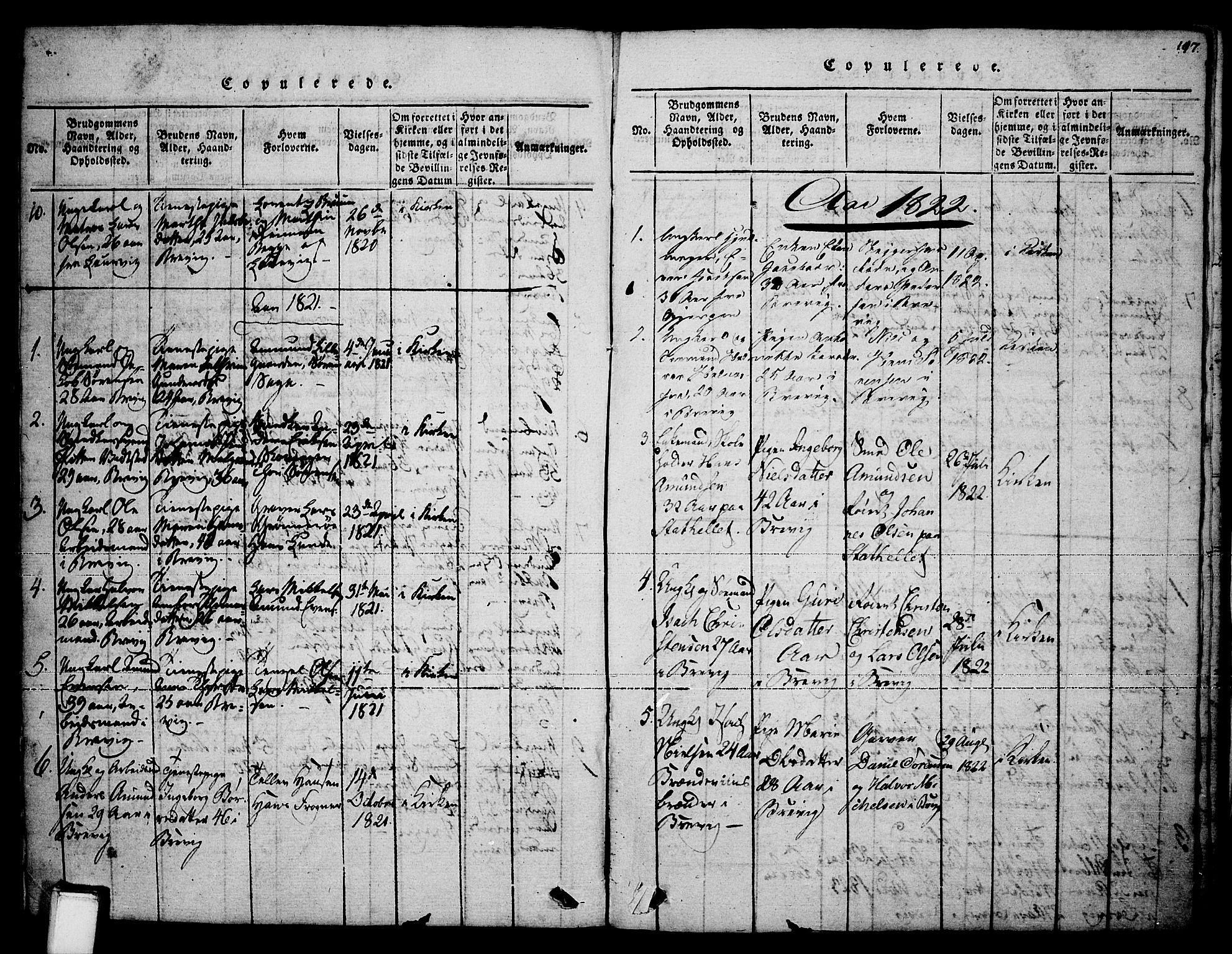 SAKO, Brevik kirkebøker, F/Fa/L0004: Ministerialbok nr. 4, 1814-1846, s. 197