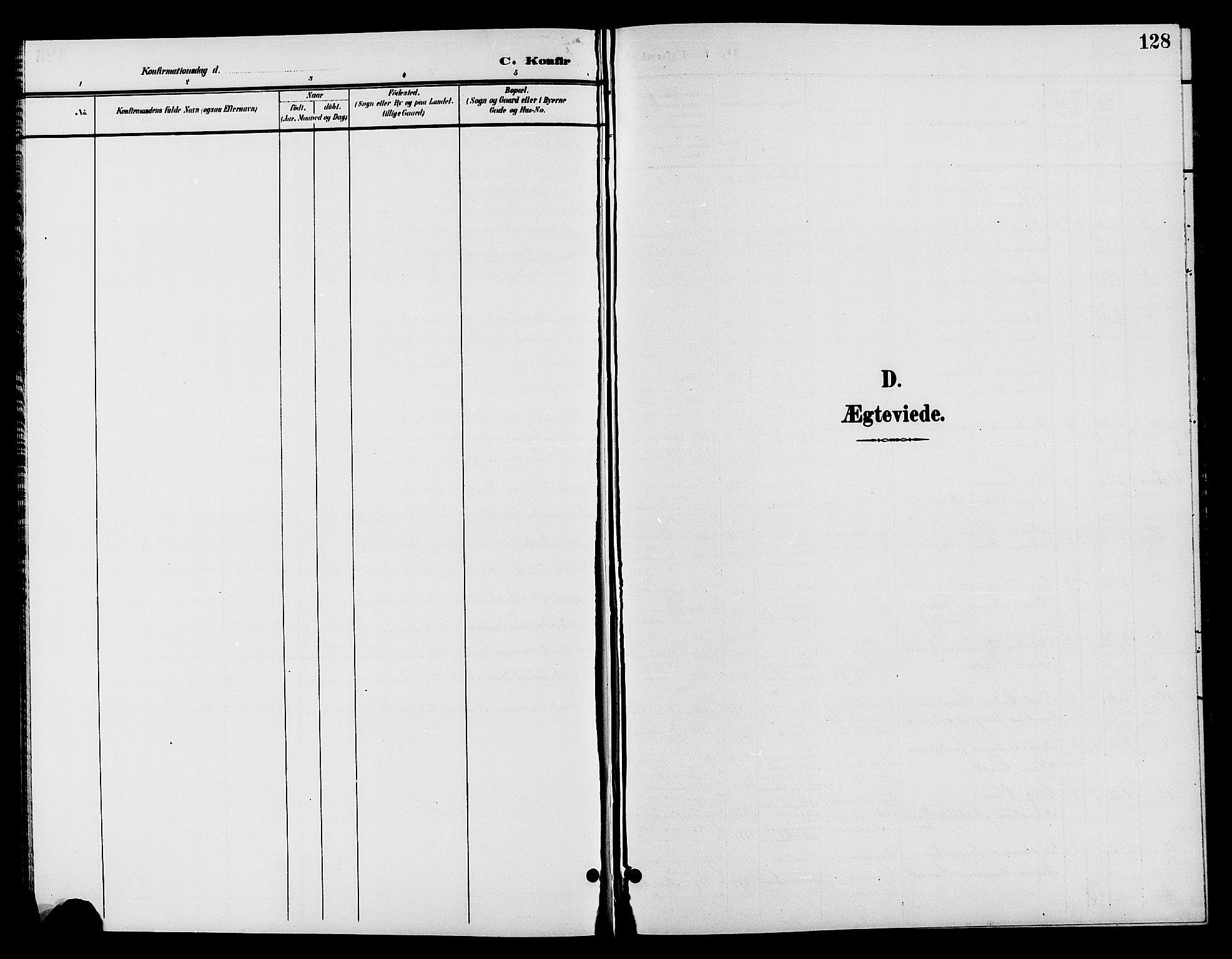 SAH, Jevnaker prestekontor, Klokkerbok nr. 2, 1896-1906, s. 128