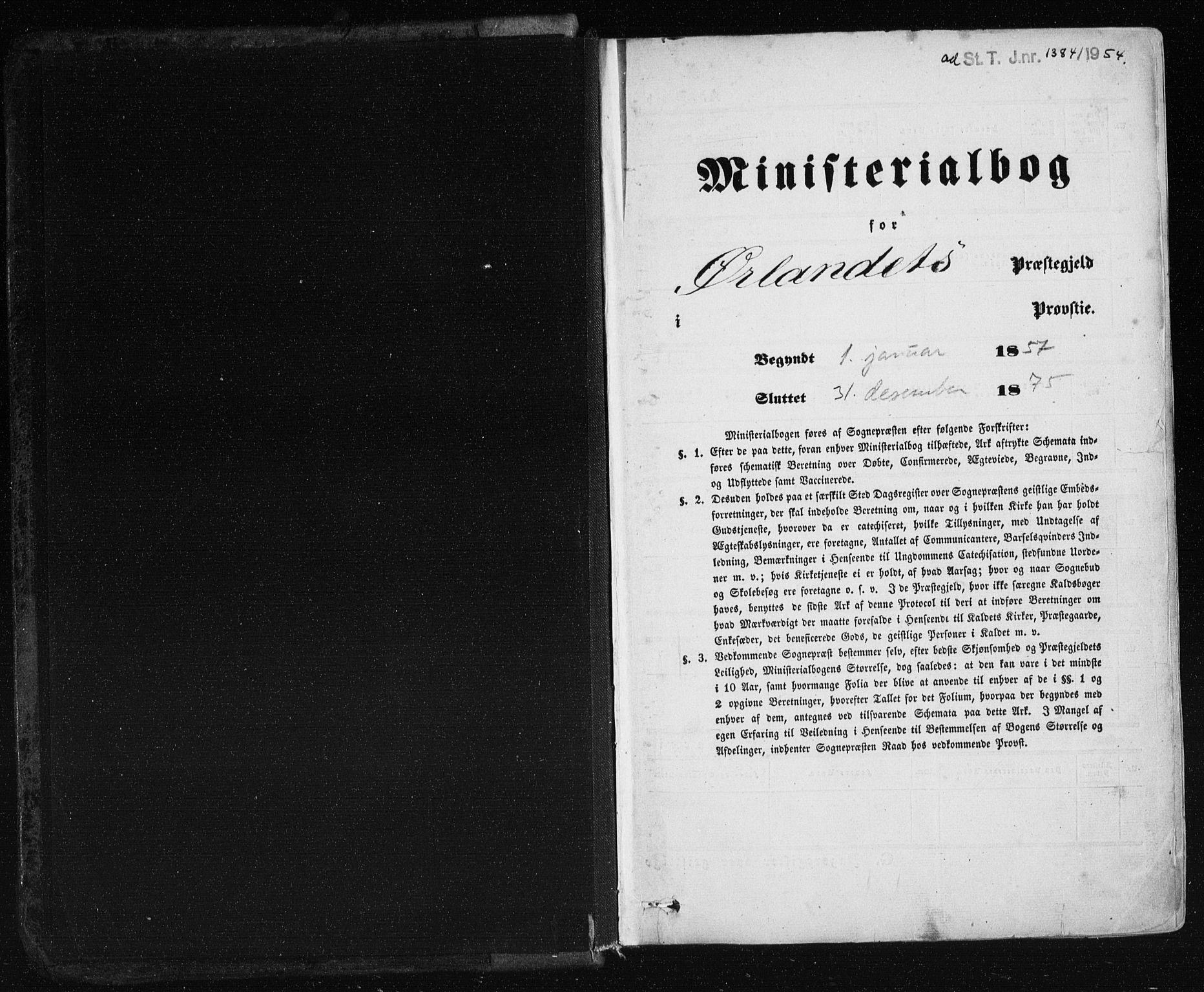 SAT, Ministerialprotokoller, klokkerbøker og fødselsregistre - Sør-Trøndelag, 659/L0737: Ministerialbok nr. 659A07, 1857-1875