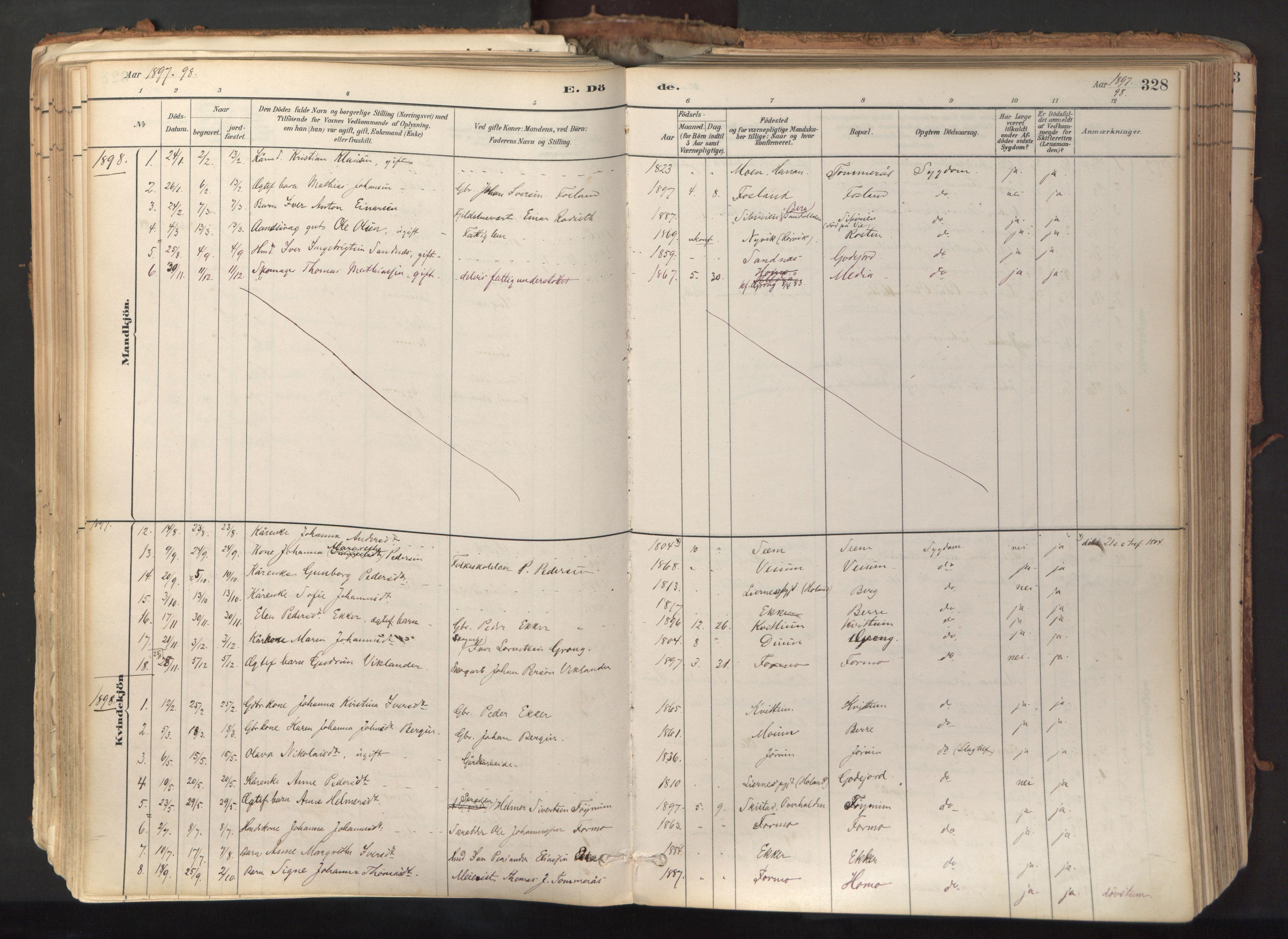 SAT, Ministerialprotokoller, klokkerbøker og fødselsregistre - Nord-Trøndelag, 758/L0519: Ministerialbok nr. 758A04, 1880-1926, s. 328