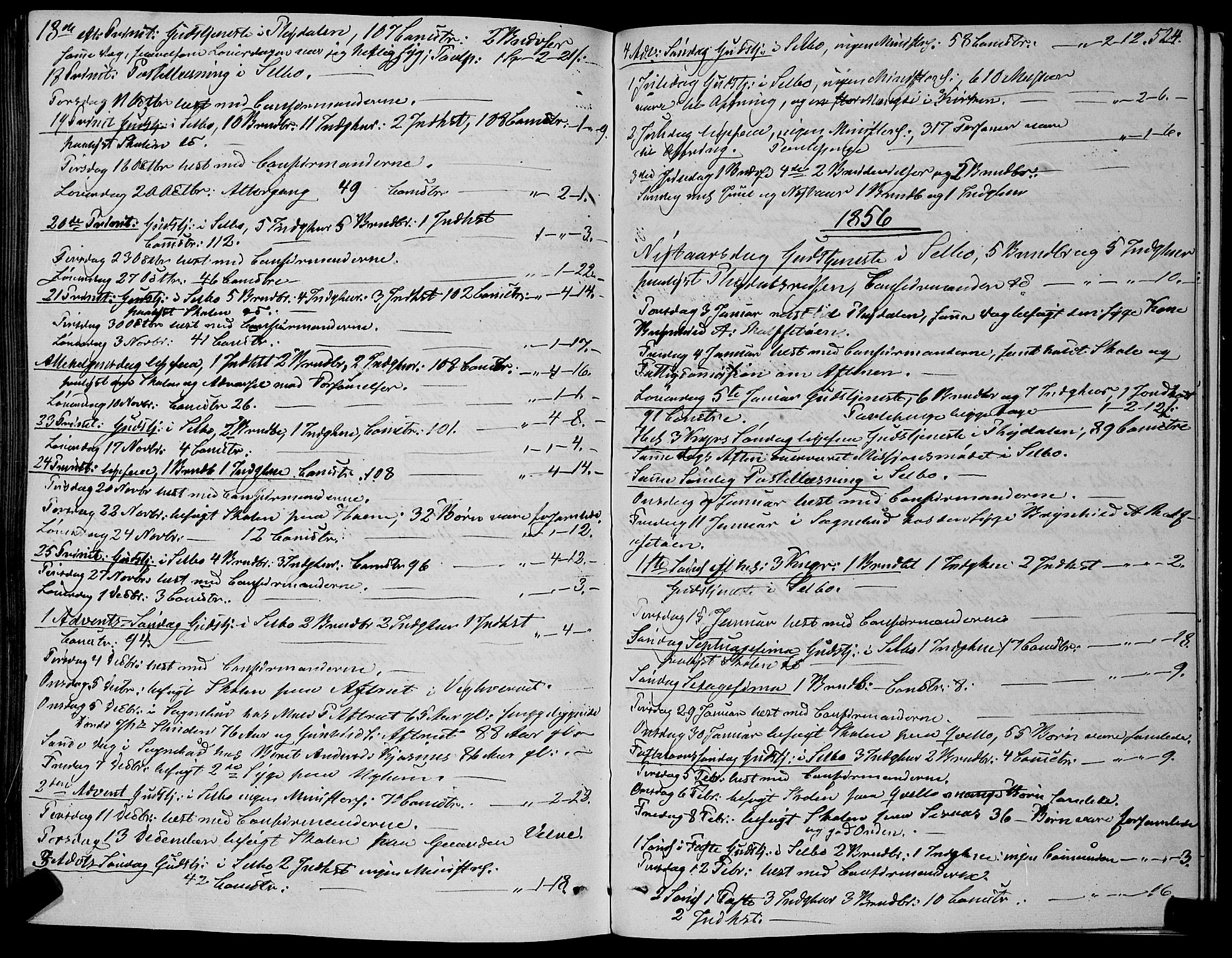 SAT, Ministerialprotokoller, klokkerbøker og fødselsregistre - Sør-Trøndelag, 695/L1145: Ministerialbok nr. 695A06 /1, 1843-1859, s. 524