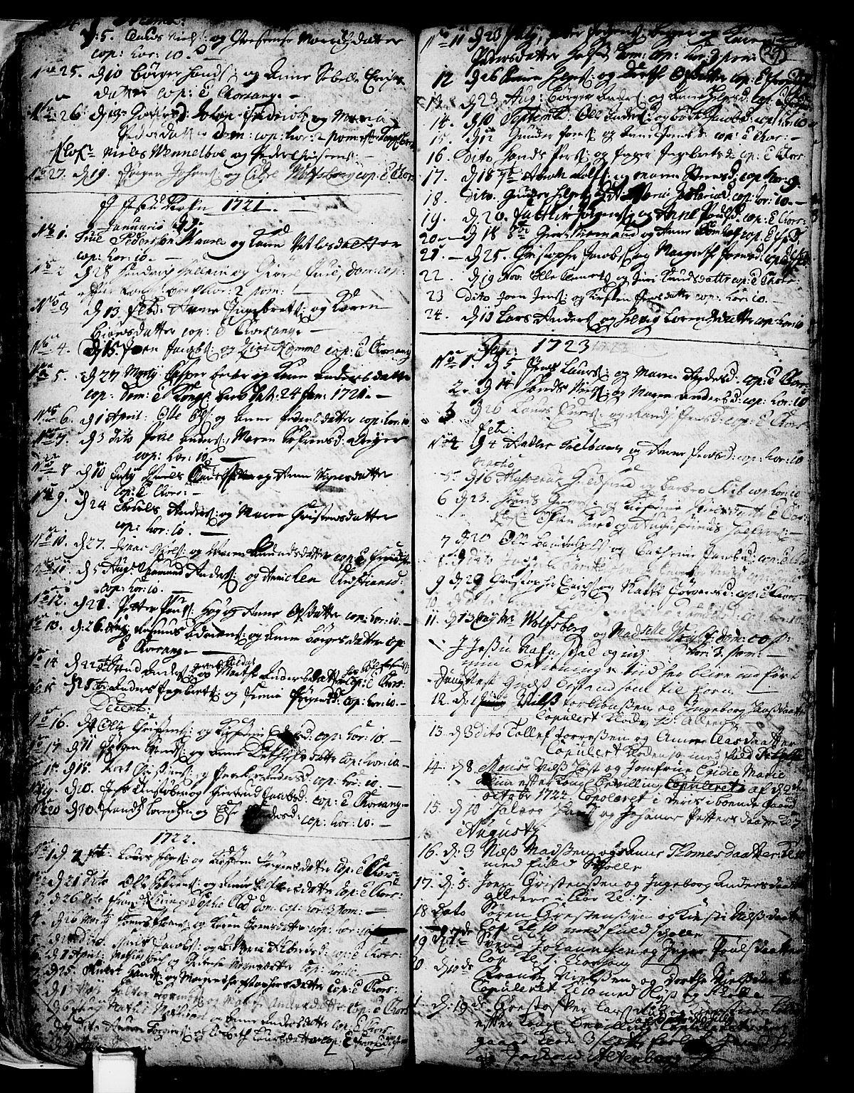 SAKO, Skien kirkebøker, F/Fa/L0002: Ministerialbok nr. 2, 1716-1757, s. 29