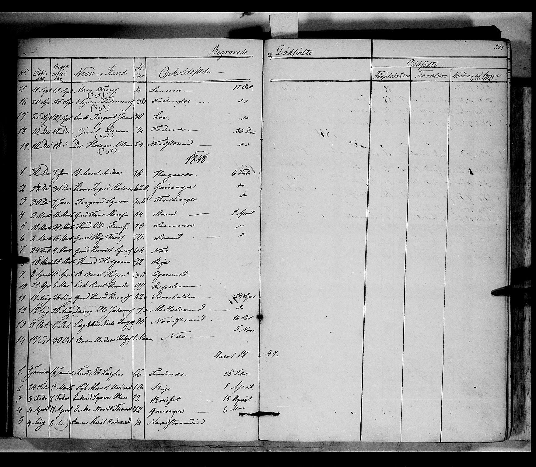 SAH, Nord-Aurdal prestekontor, Ministerialbok nr. 5, 1842-1863, s. 224