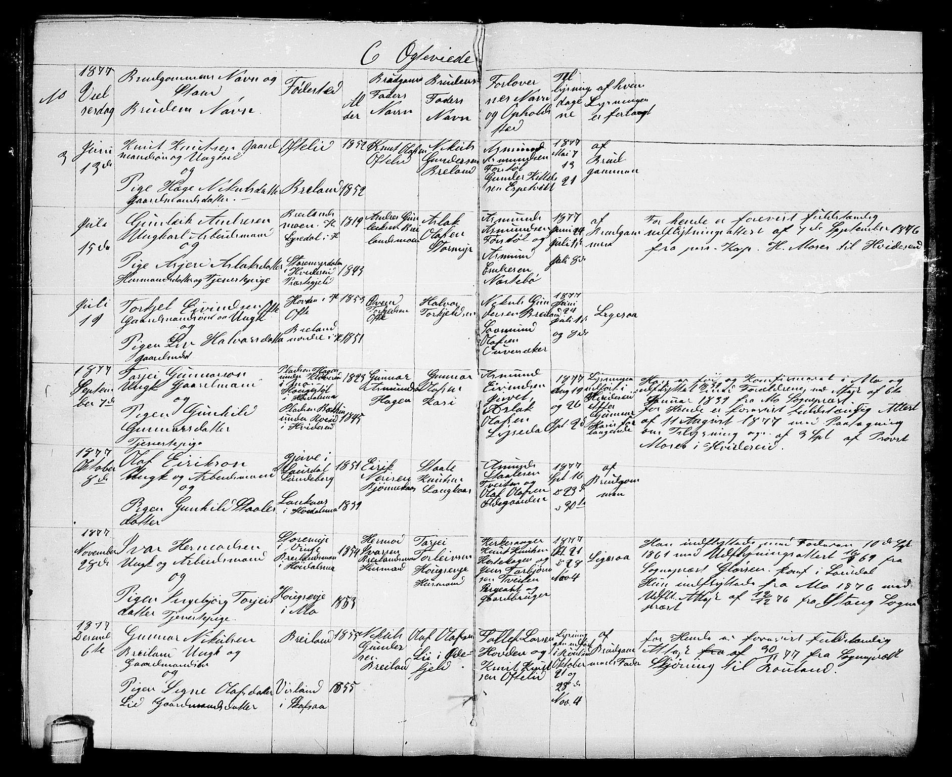 SAKO, Lårdal kirkebøker, G/Gc/L0002: Klokkerbok nr. III 2, 1852-1877