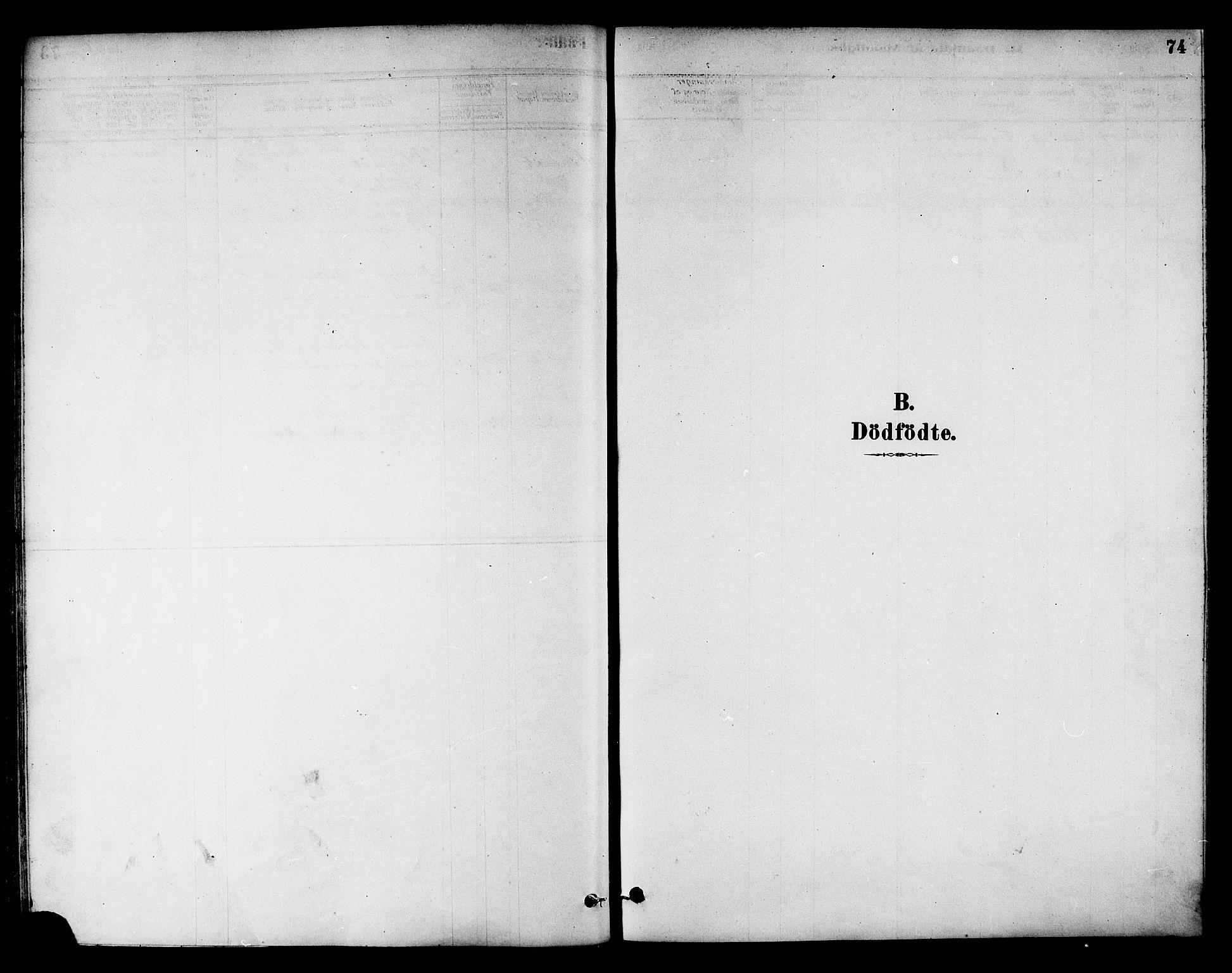 SAT, Ministerialprotokoller, klokkerbøker og fødselsregistre - Nord-Trøndelag, 784/L0672: Ministerialbok nr. 784A07, 1880-1887, s. 74