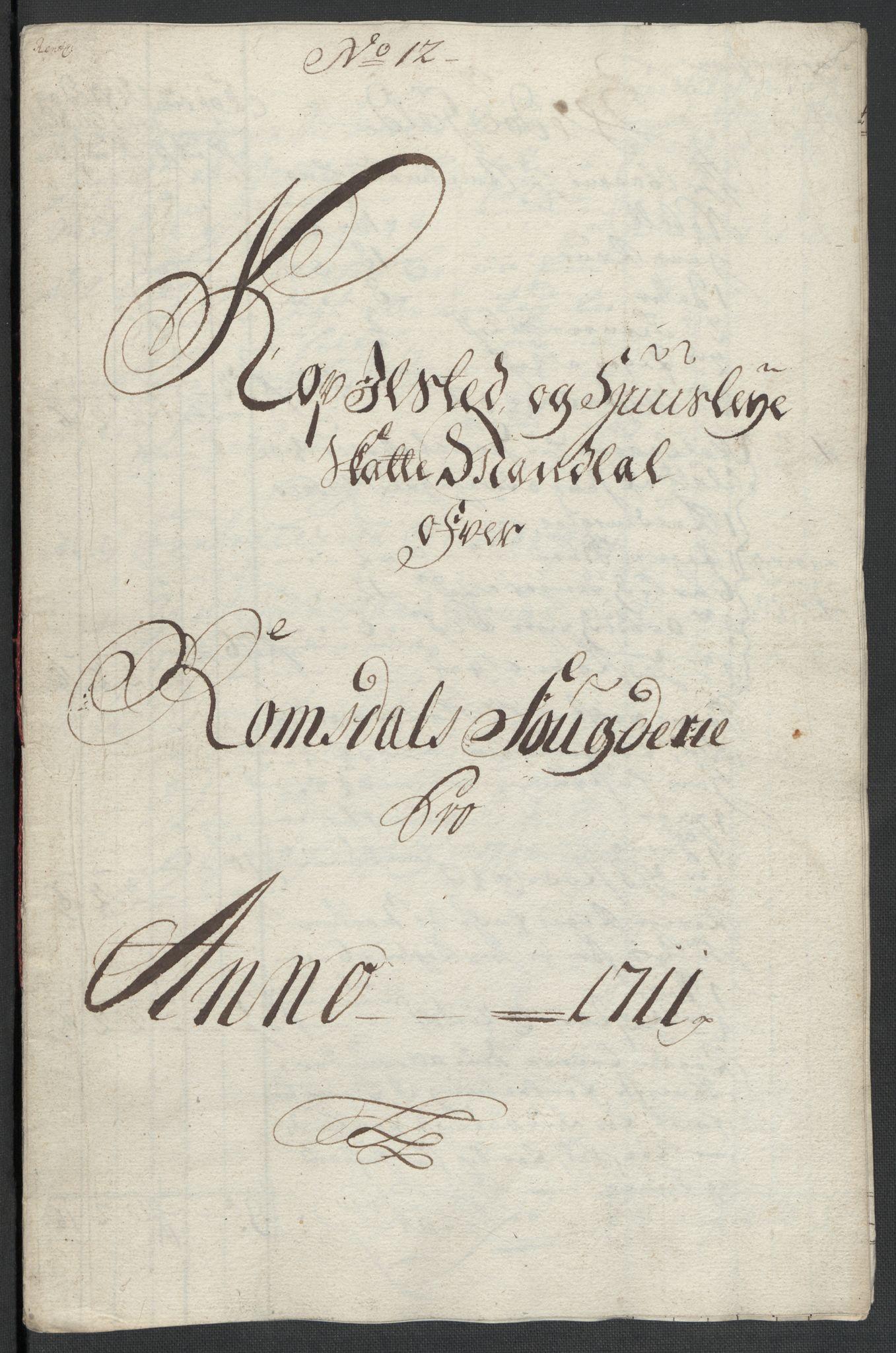 RA, Rentekammeret inntil 1814, Reviderte regnskaper, Fogderegnskap, R55/L3660: Fogderegnskap Romsdal, 1711, s. 217