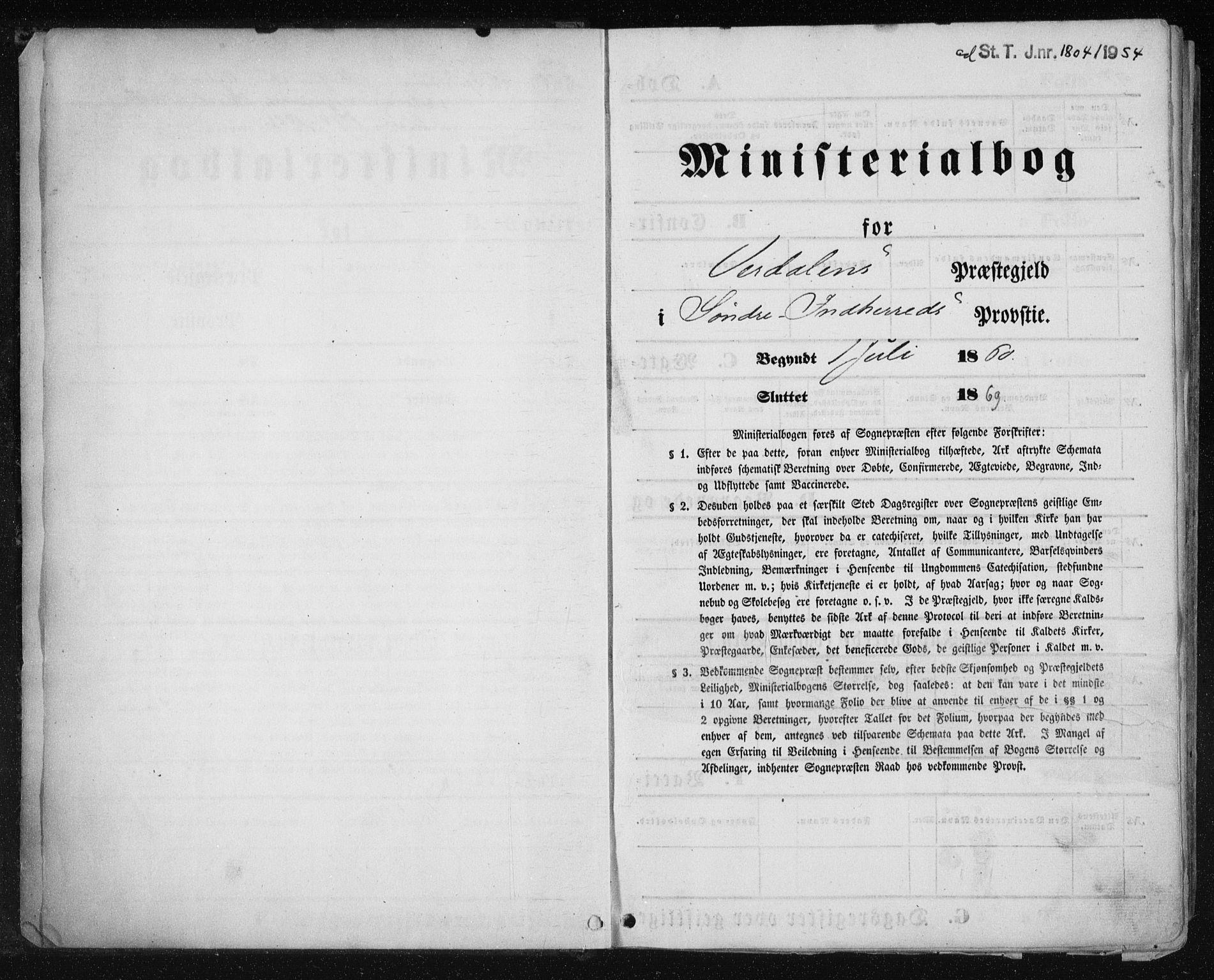SAT, Ministerialprotokoller, klokkerbøker og fødselsregistre - Nord-Trøndelag, 723/L0241: Ministerialbok nr. 723A10, 1860-1869