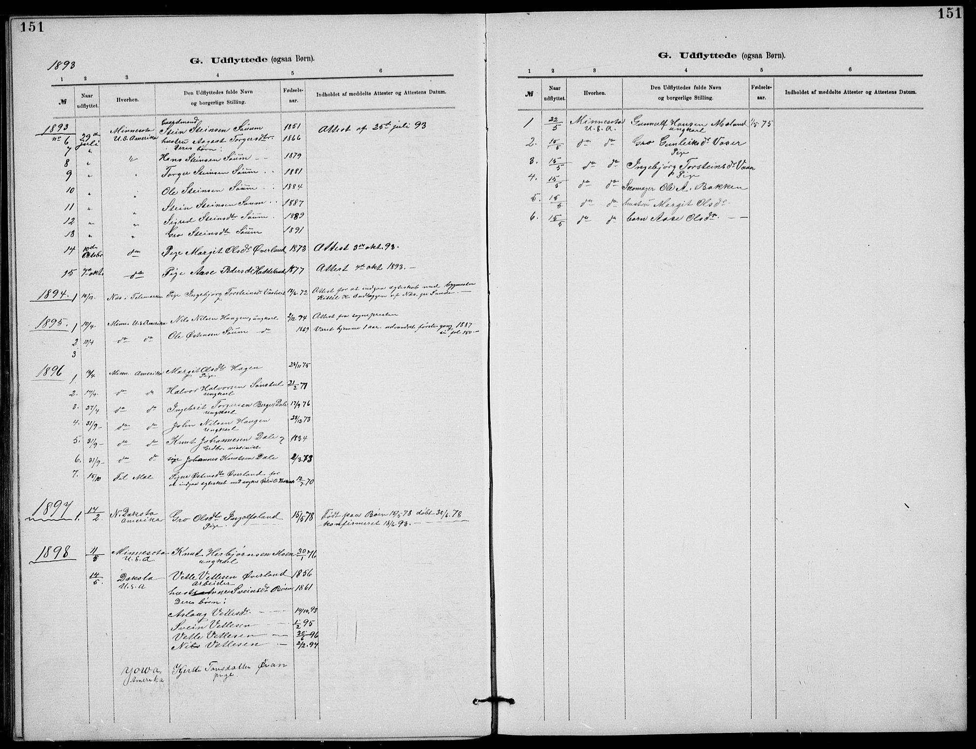 SAKO, Rjukan kirkebøker, G/Ga/L0001: Klokkerbok nr. 1, 1880-1914, s. 151