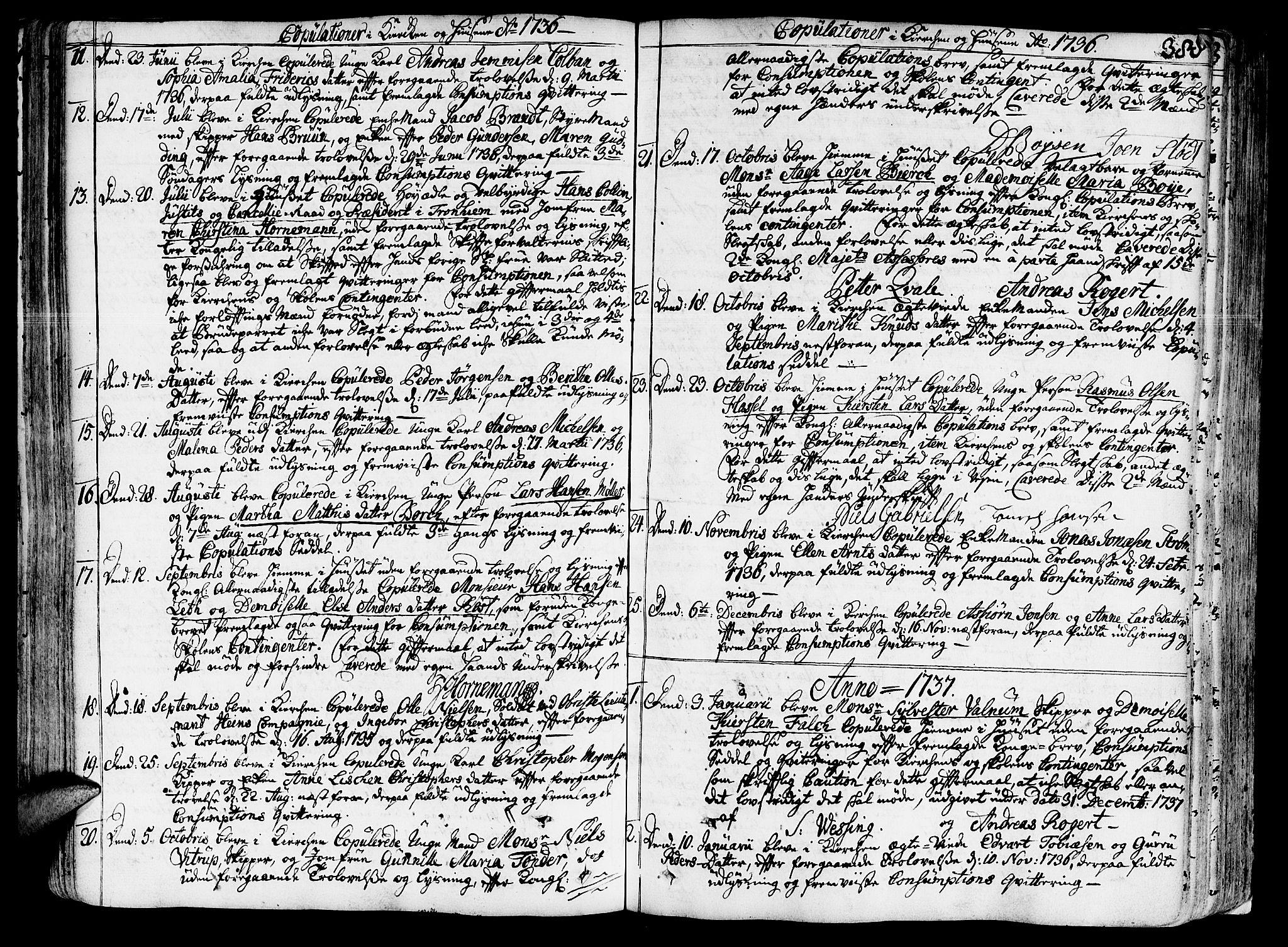 SAT, Ministerialprotokoller, klokkerbøker og fødselsregistre - Sør-Trøndelag, 602/L0103: Ministerialbok nr. 602A01, 1732-1774, s. 388