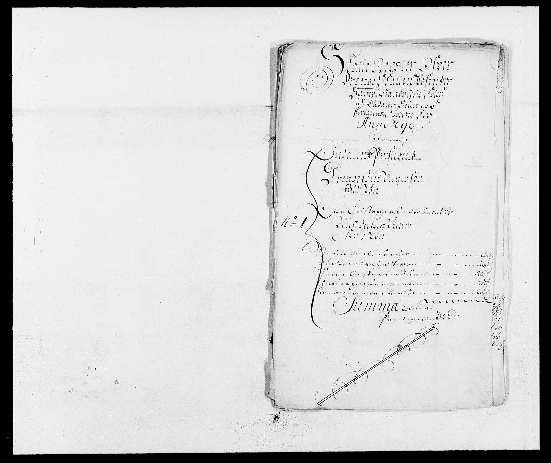RA, Rentekammeret inntil 1814, Reviderte regnskaper, Fogderegnskap, R13/L0828: Fogderegnskap Solør, Odal og Østerdal, 1690, s. 250