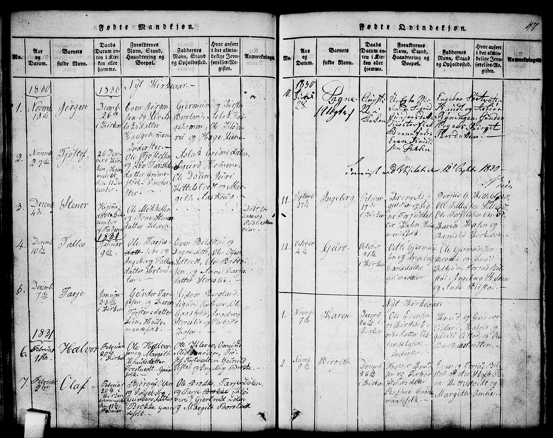 SAKO, Mo kirkebøker, G/Gb/L0001: Klokkerbok nr. II 1, 1814-1843, s. 47