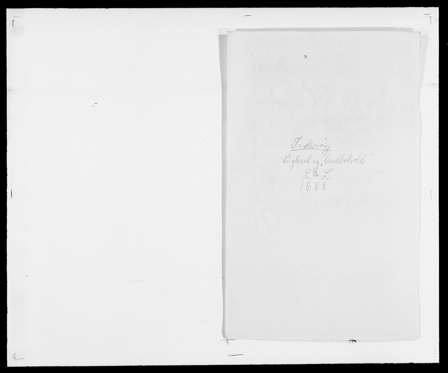RA, Rentekammeret inntil 1814, Reviderte regnskaper, Fogderegnskap, R63/L4306: Fogderegnskap Inderøy, 1687-1689, s. 329