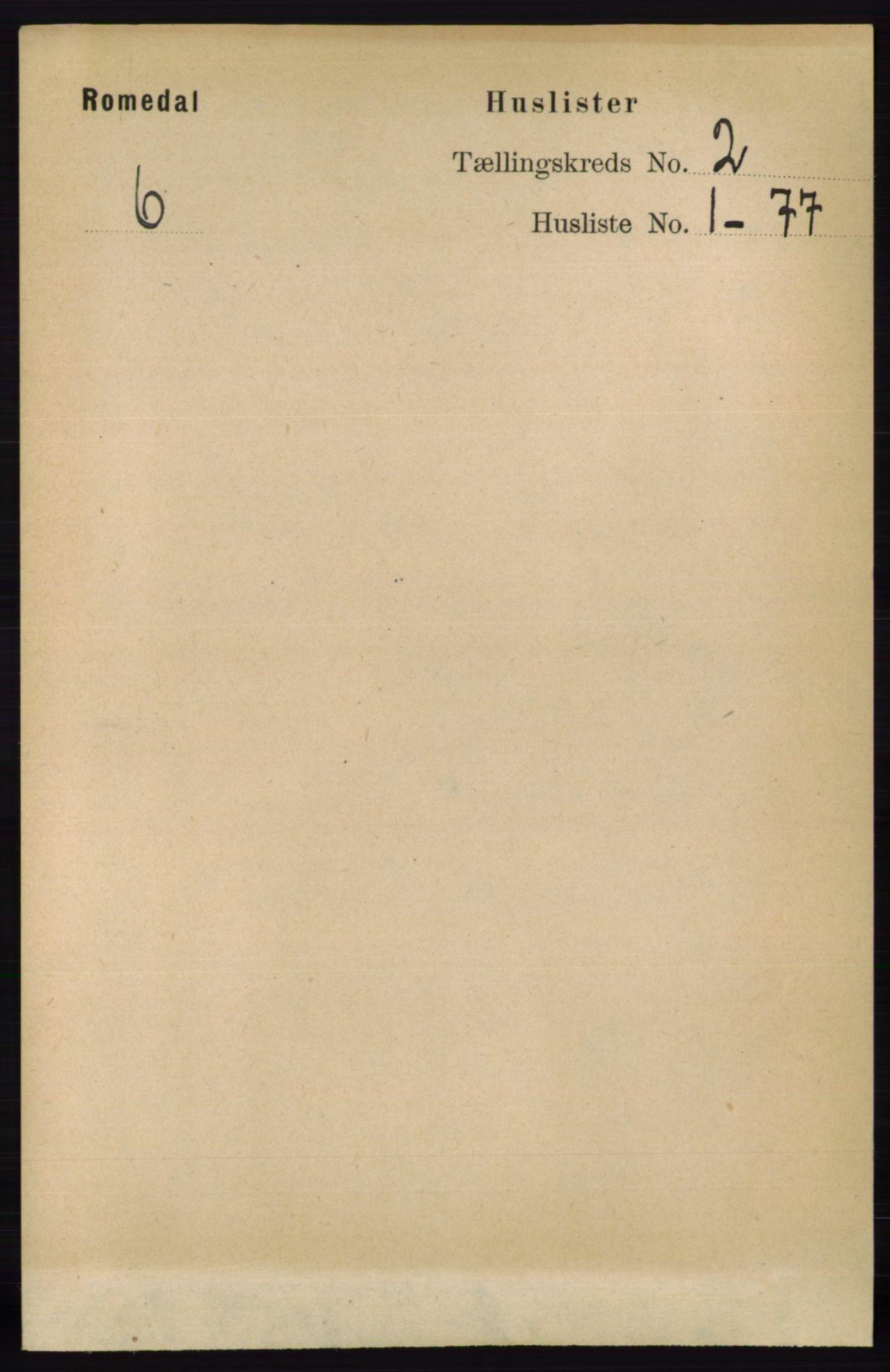RA, Folketelling 1891 for 0416 Romedal herred, 1891, s. 768