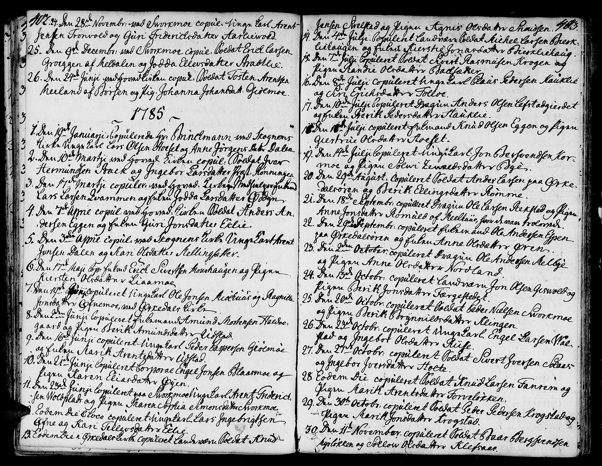 SAT, Ministerialprotokoller, klokkerbøker og fødselsregistre - Sør-Trøndelag, 668/L0802: Ministerialbok nr. 668A02, 1776-1799, s. 402-403