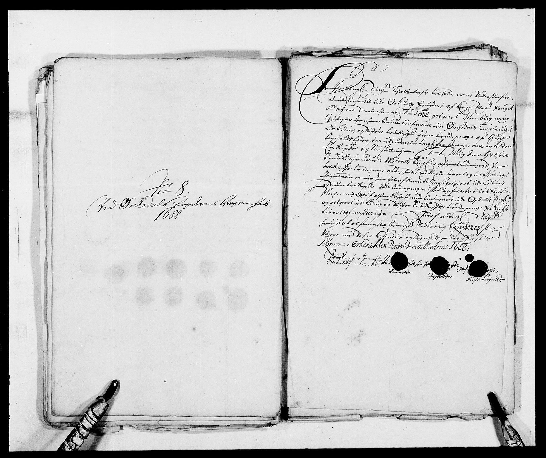 RA, Rentekammeret inntil 1814, Reviderte regnskaper, Fogderegnskap, R58/L3935: Fogderegnskap Orkdal, 1687-1688, s. 371