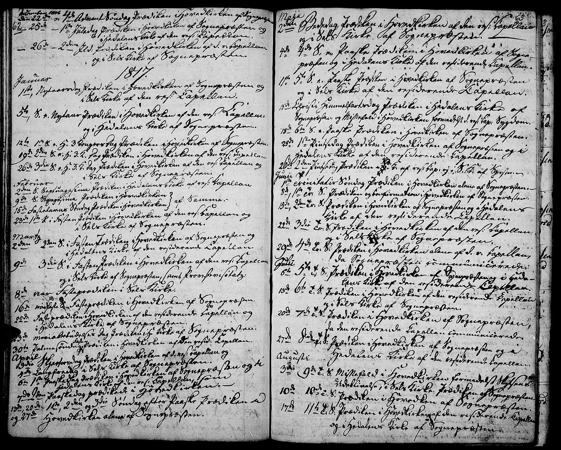 SAH, Vågå prestekontor, Ministerialbok nr. 2, 1810-1815, s. 62-63