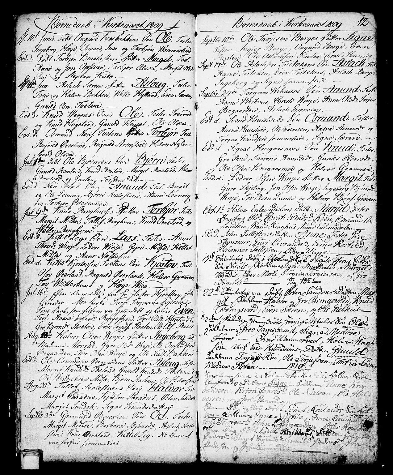 SAKO, Vinje kirkebøker, F/Fa/L0002: Ministerialbok nr. I 2, 1767-1814, s. 12